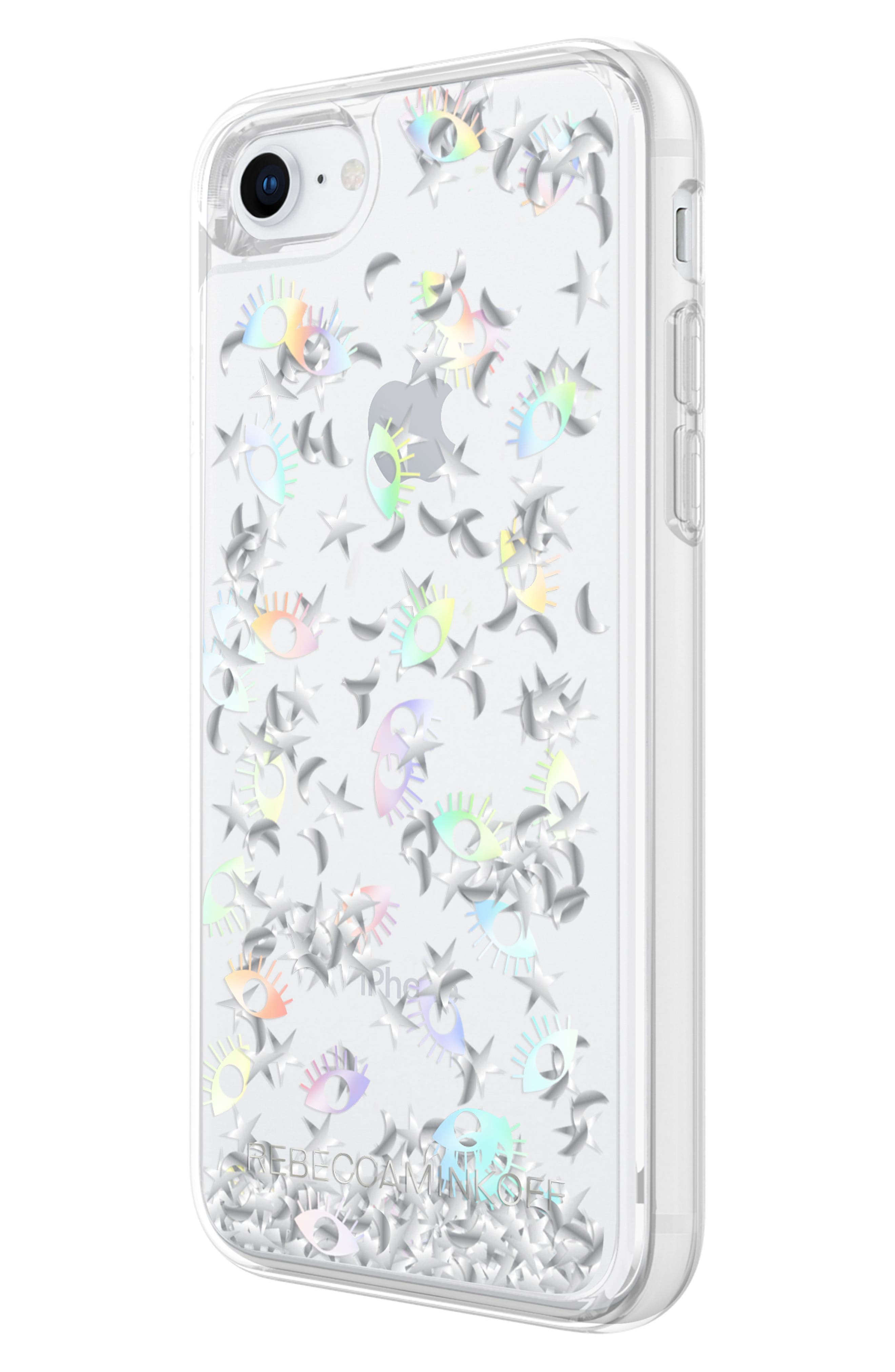 Galaxy Icon Glitterfall iPhone 7/8 & 7/8 Plus Case,                             Alternate thumbnail 2, color,                             HOLOGRAPHIC/ CLEAR