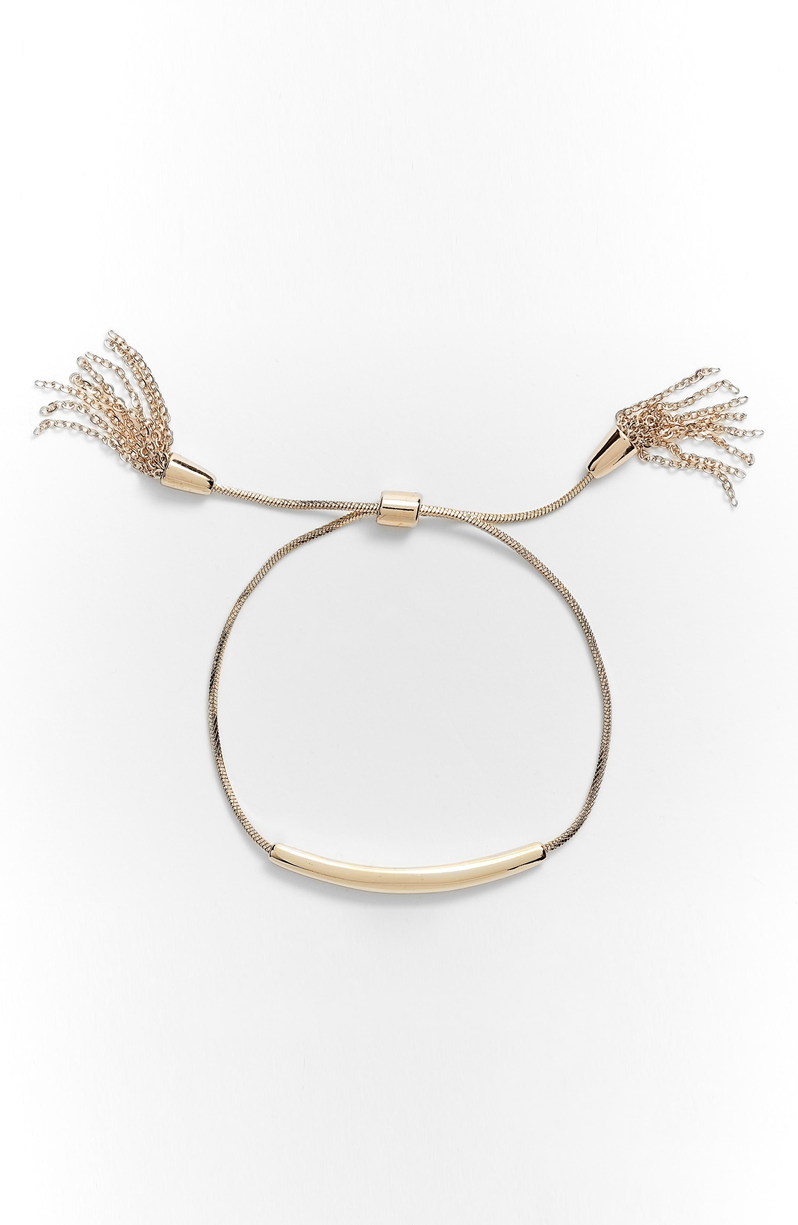 Metal ID Slider Bracelet,                         Main,                         color, 710