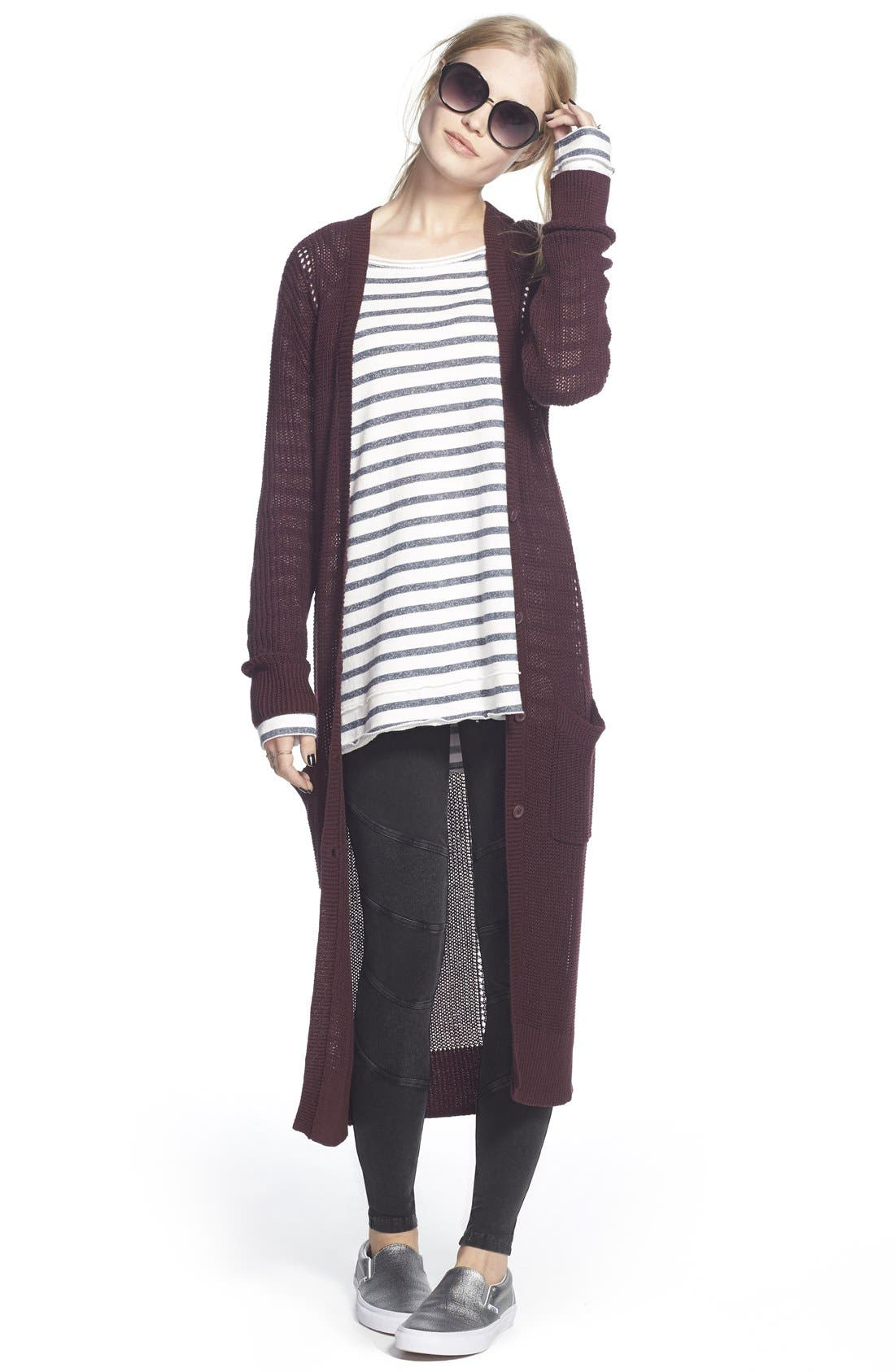Thin Stripe Scarf,                             Alternate thumbnail 2, color,