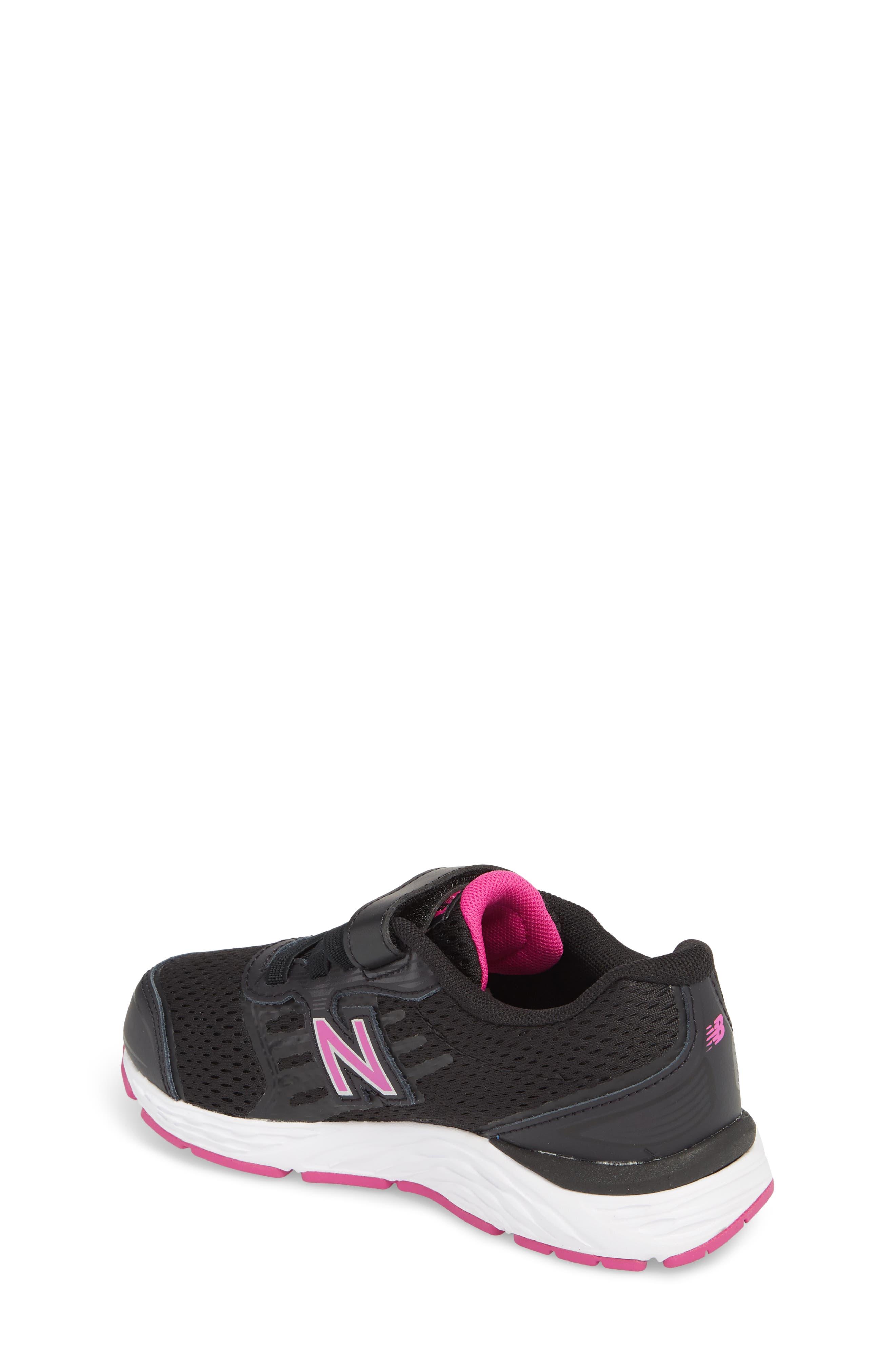 680v5 Sneaker,                             Alternate thumbnail 2, color,                             BLACK/ AZALEA