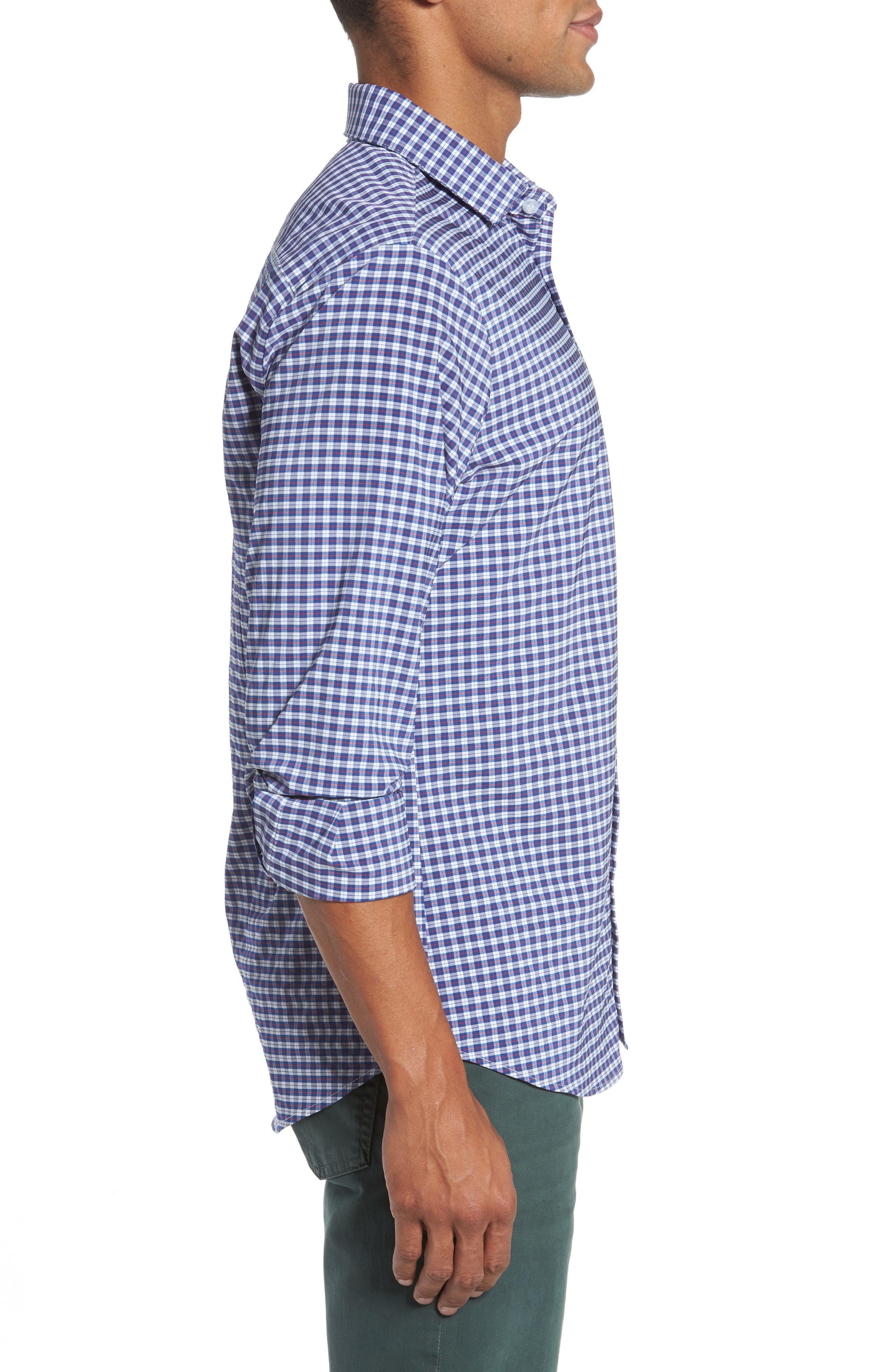 Howe 2.0 Plaid Sport Shirt,                             Alternate thumbnail 3, color,                             MULTI