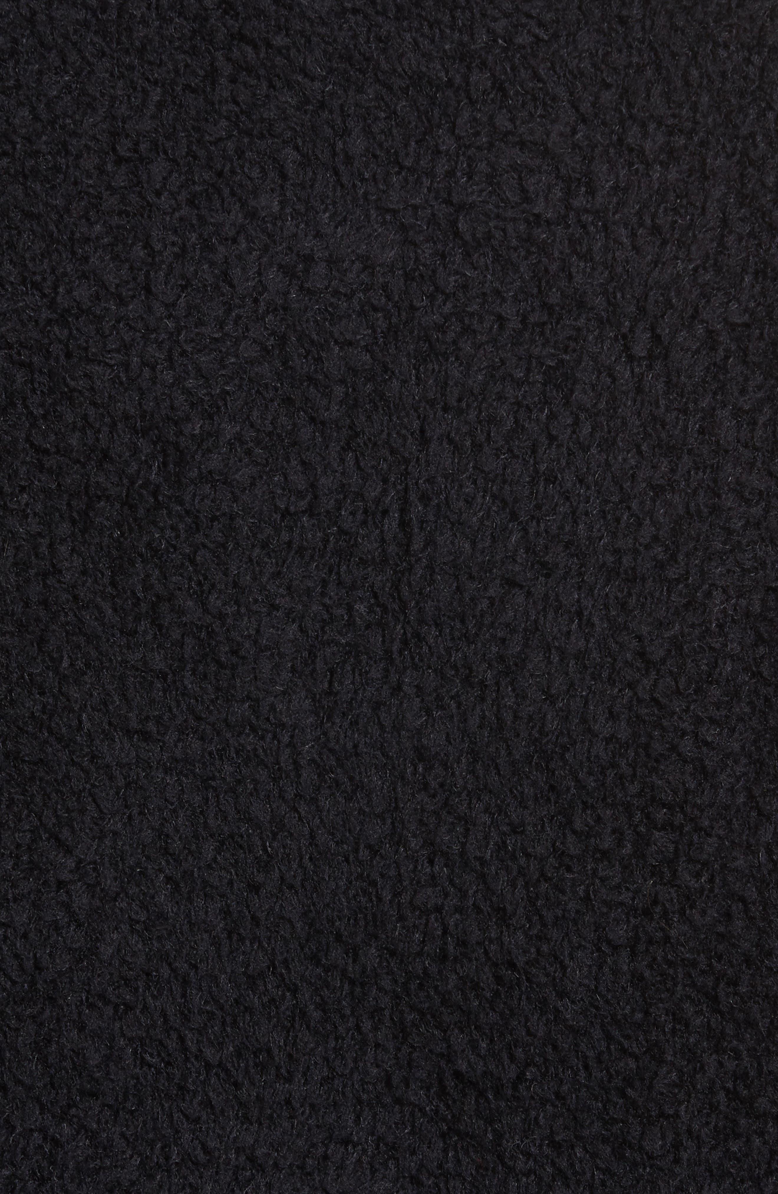 Fleece Wool Blend Bomber Jacket,                             Alternate thumbnail 6, color,                             001