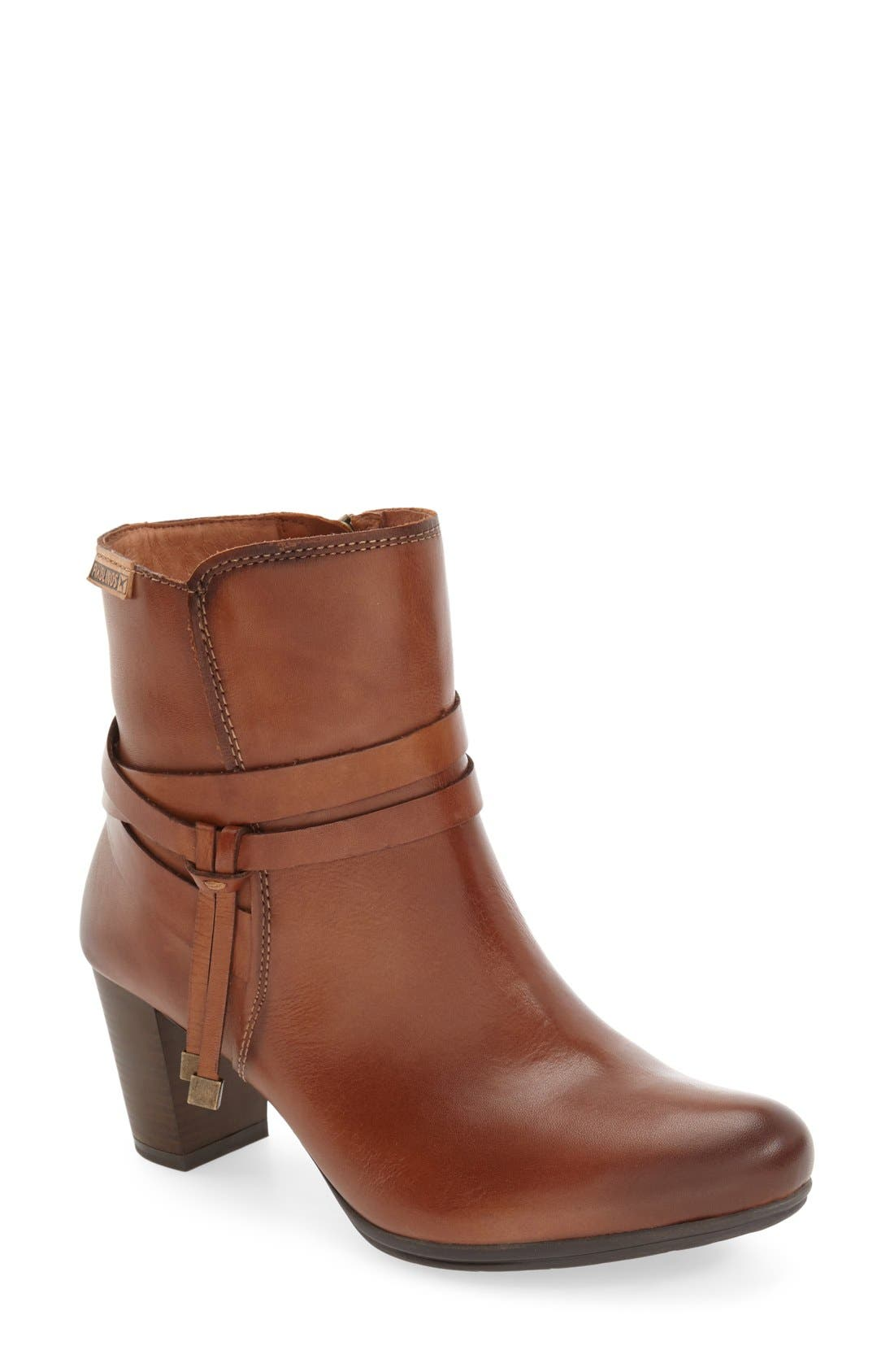 'Verona' Bootie,                         Main,                         color, CUERO LEATHER