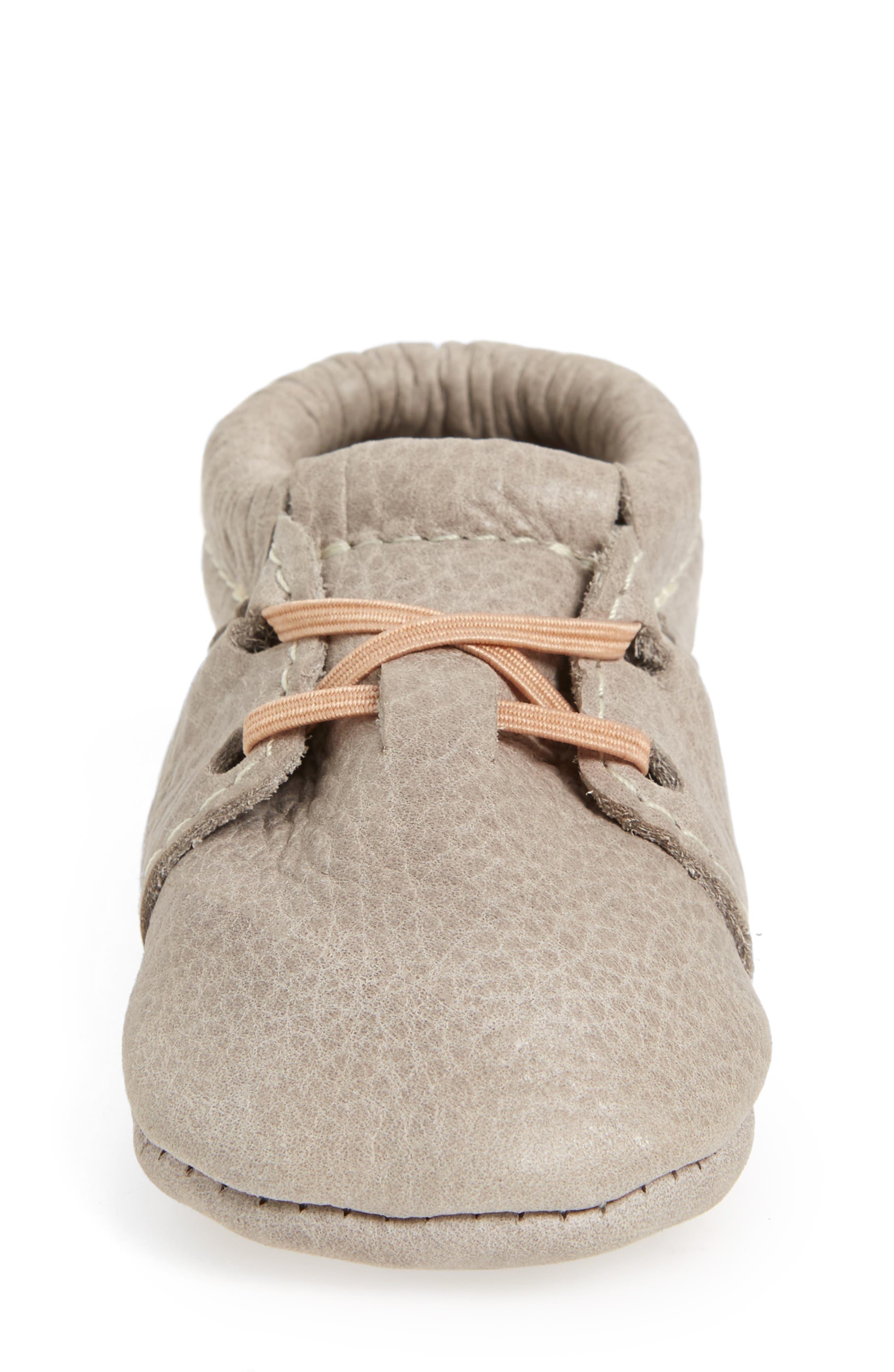 Oxford Crib Shoe,                             Alternate thumbnail 4, color,                             GRAY