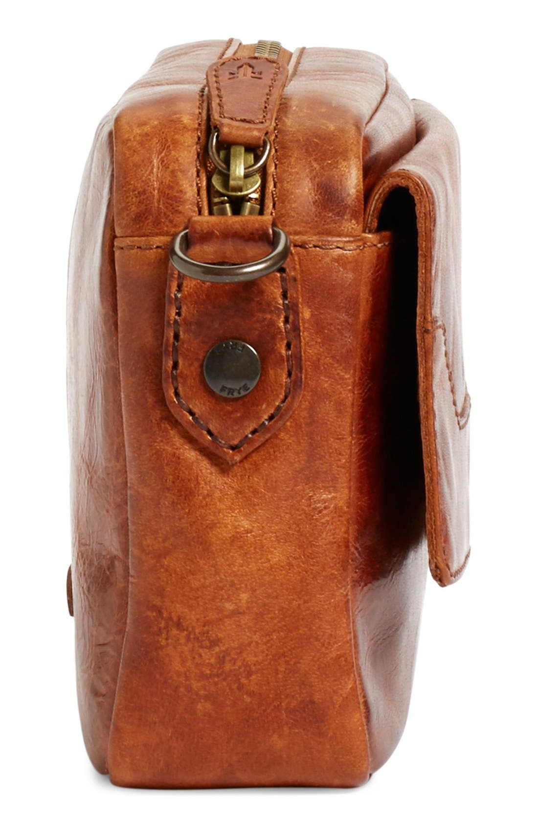 'Melissa' Leather Camera Crossbody Bag,                             Alternate thumbnail 5, color,                             200