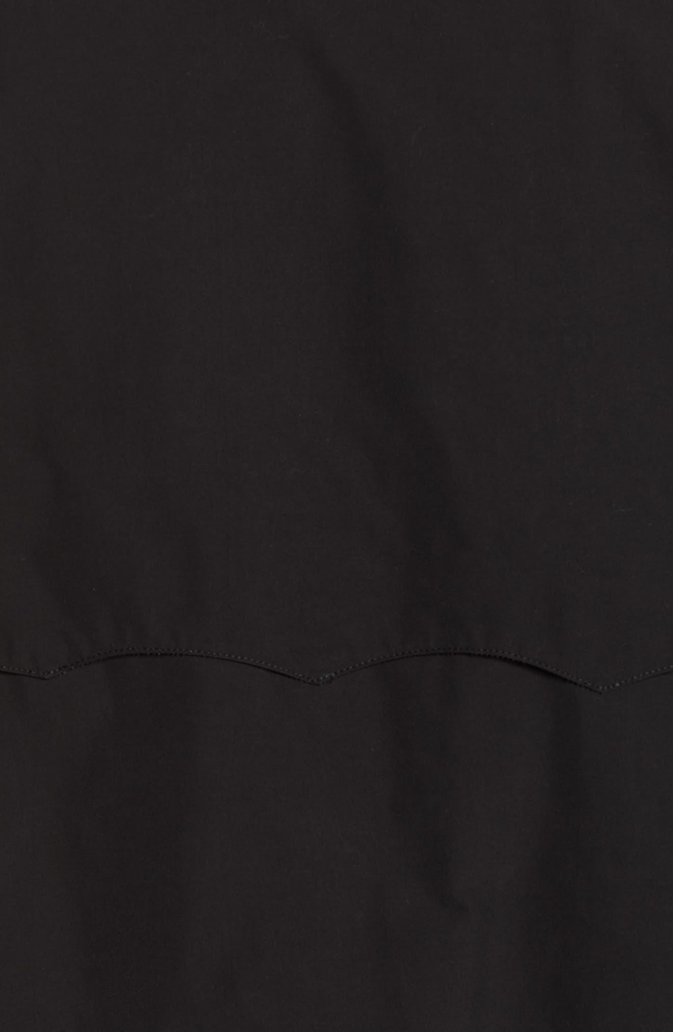 G9 Water Resistant Harrington Jacket,                             Alternate thumbnail 7, color,                             BLACK