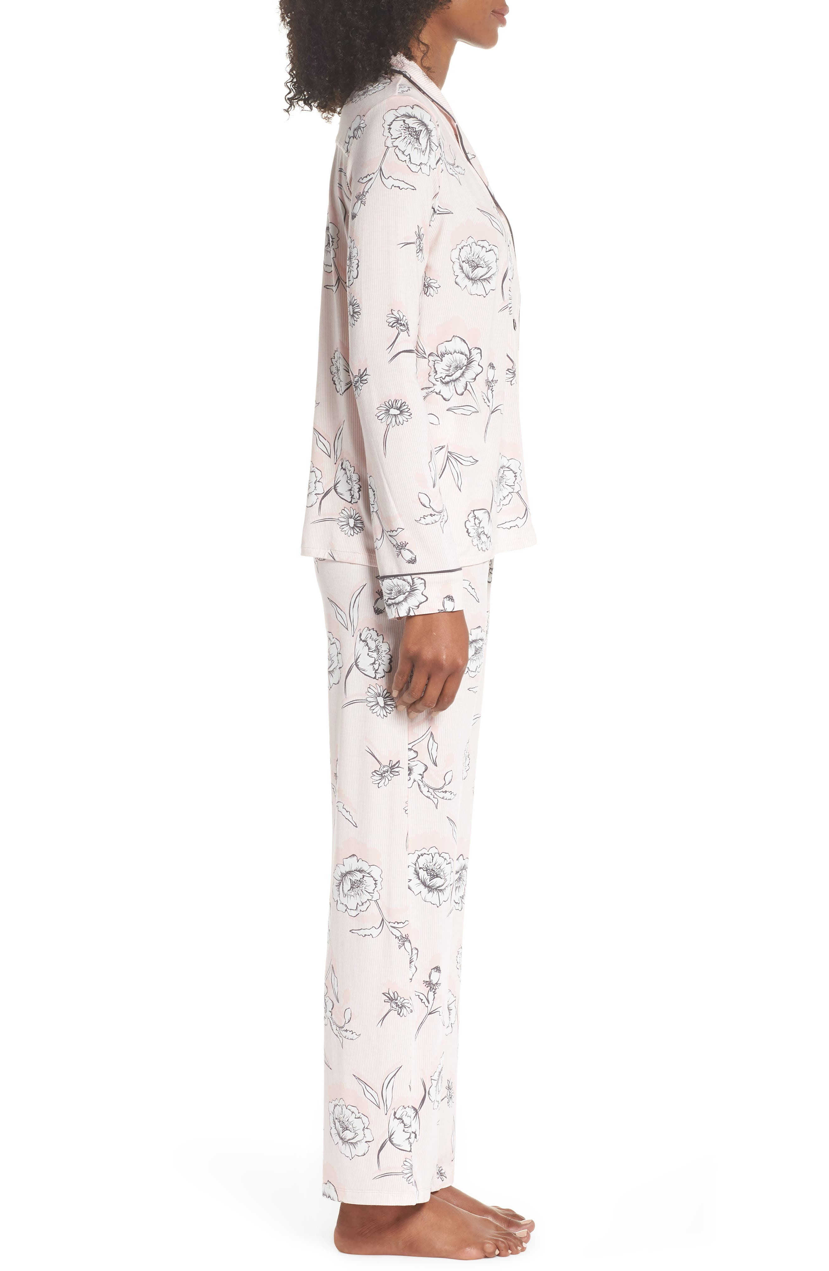 Shadow Floral Pajamas,                             Alternate thumbnail 3, color,                             650