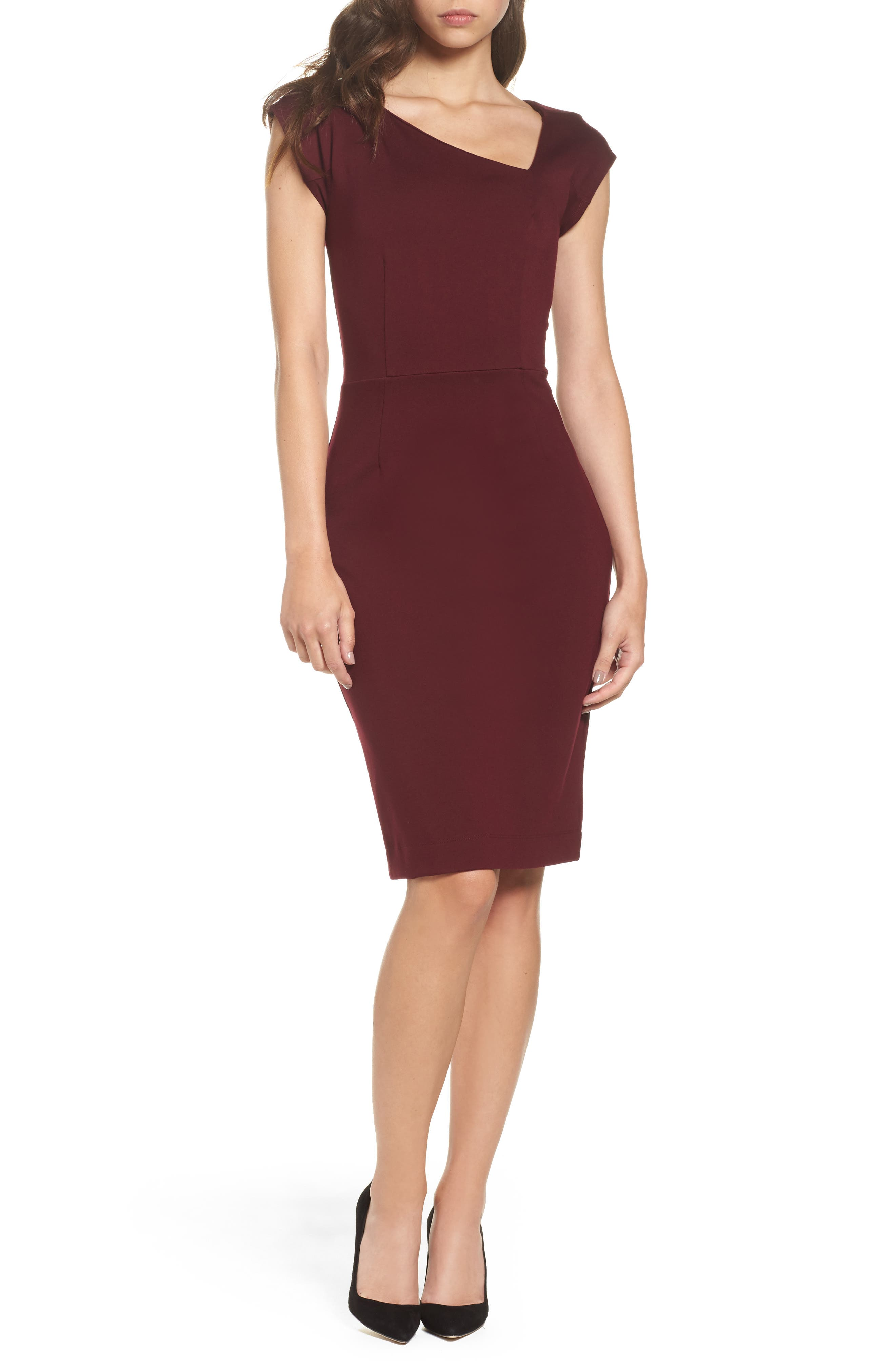 FRENCH CONNECTION Lula Sheath Dress, Main, color, 935