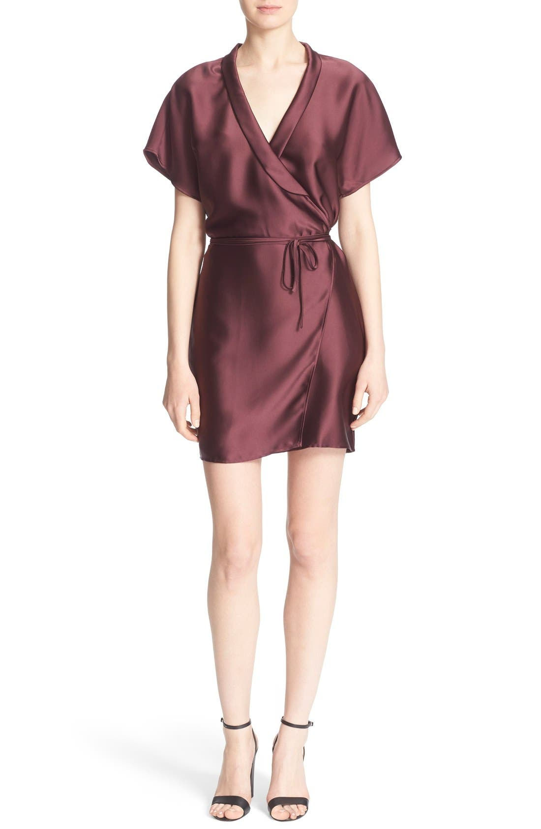 'The Wrap' Short Sleeve Dress,                             Main thumbnail 1, color,                             600