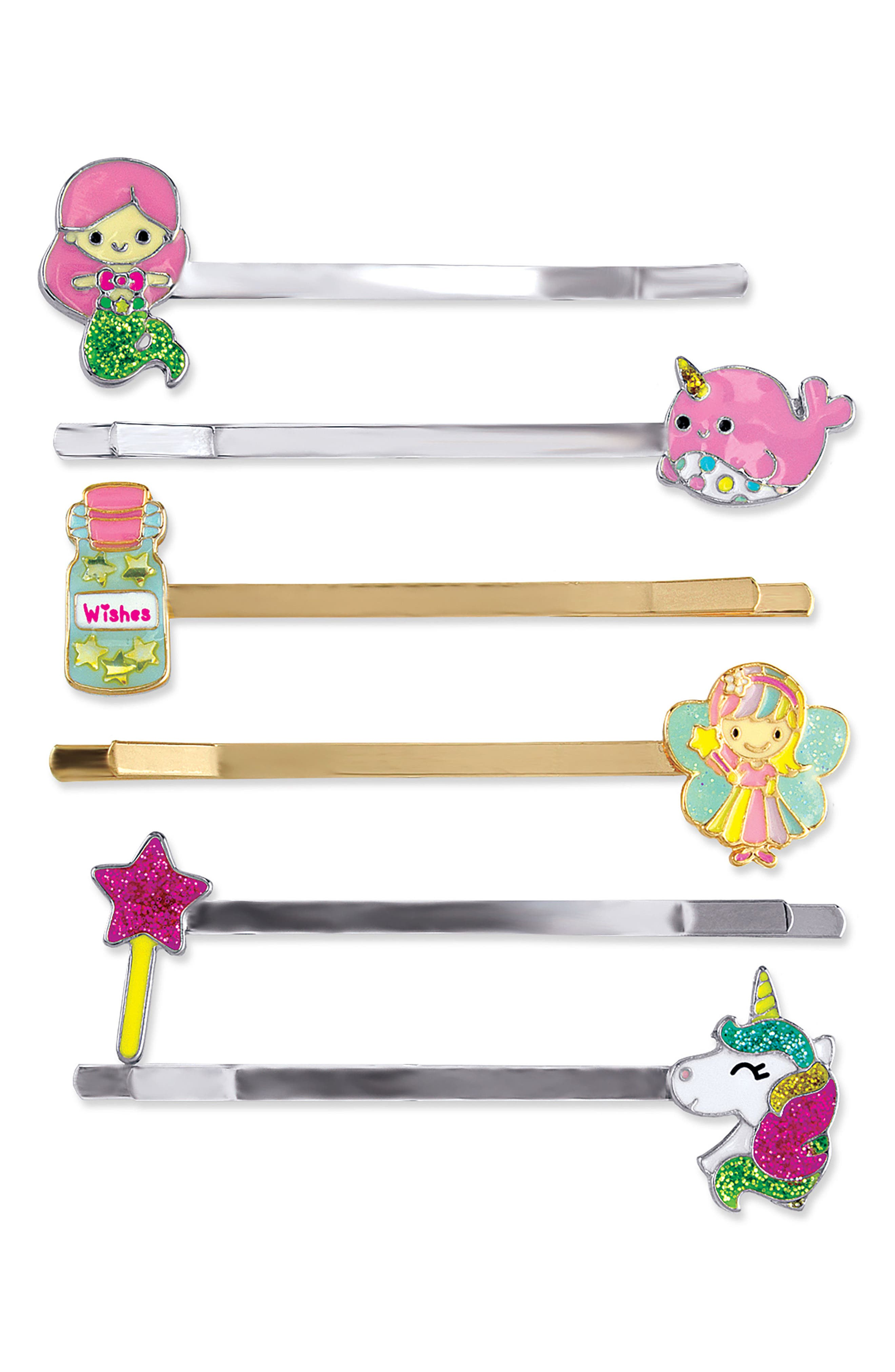 CHARM IT!<sup>®</sup> Party 6-Pack Magical Bobby Pins,                             Main thumbnail 1, color,                             100
