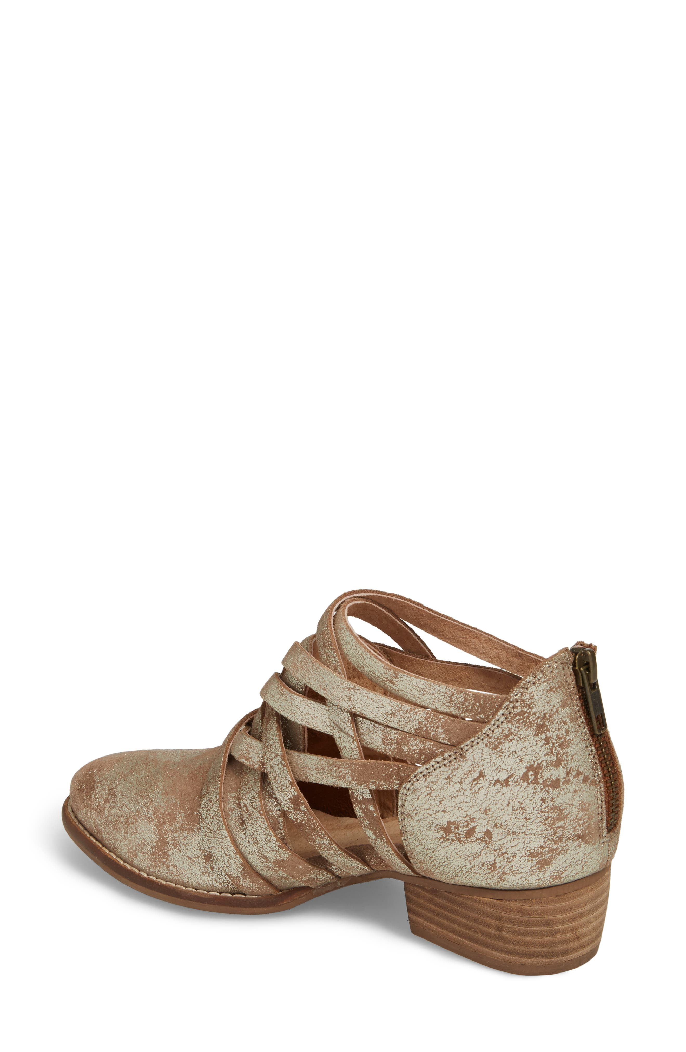 So Blue Cutout Bootie,                             Alternate thumbnail 2, color,                             GOLD DISTRESSED LEATHER