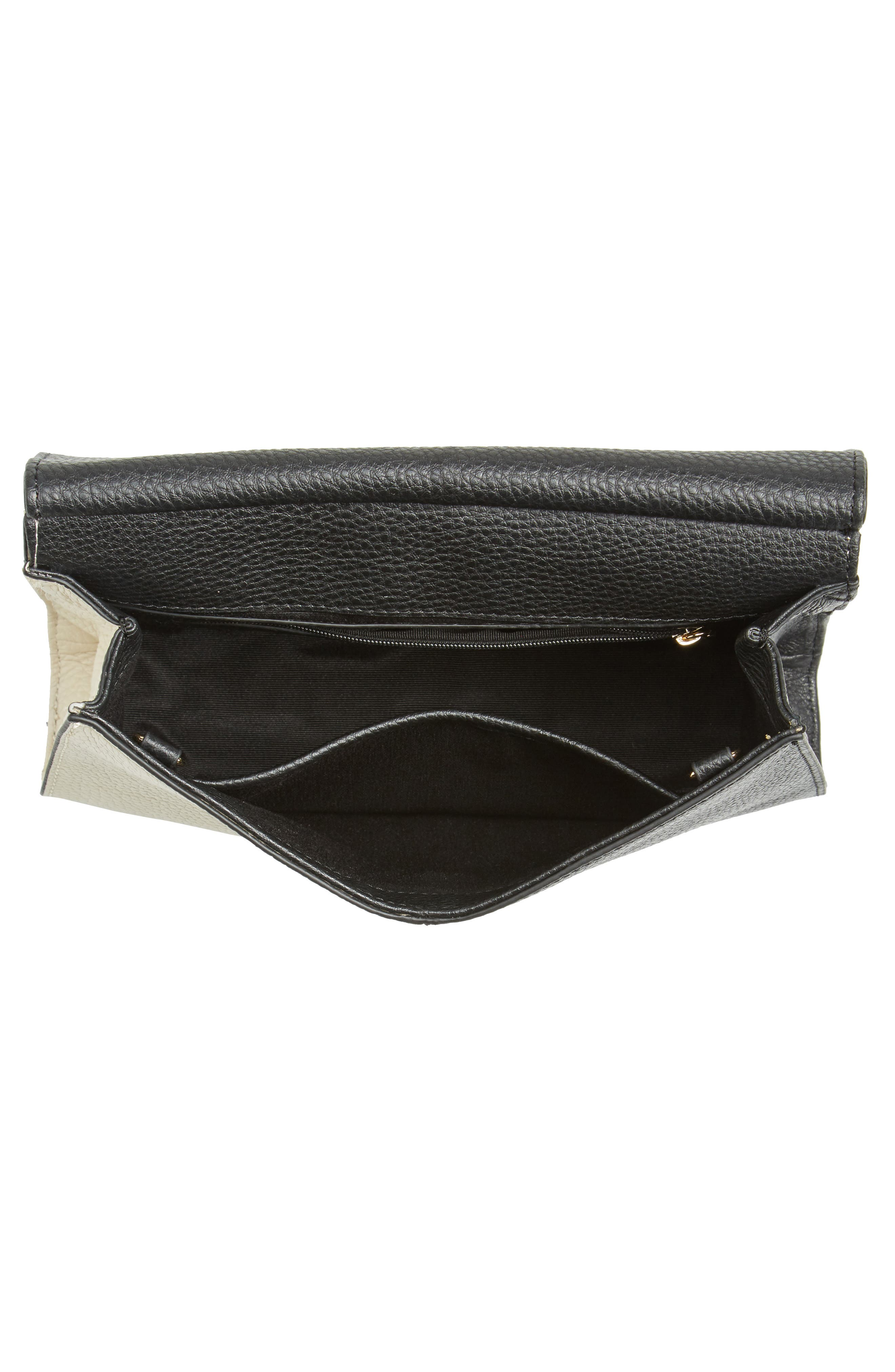 Astor Pebbled Leather Flap Clutch,                             Alternate thumbnail 14, color,