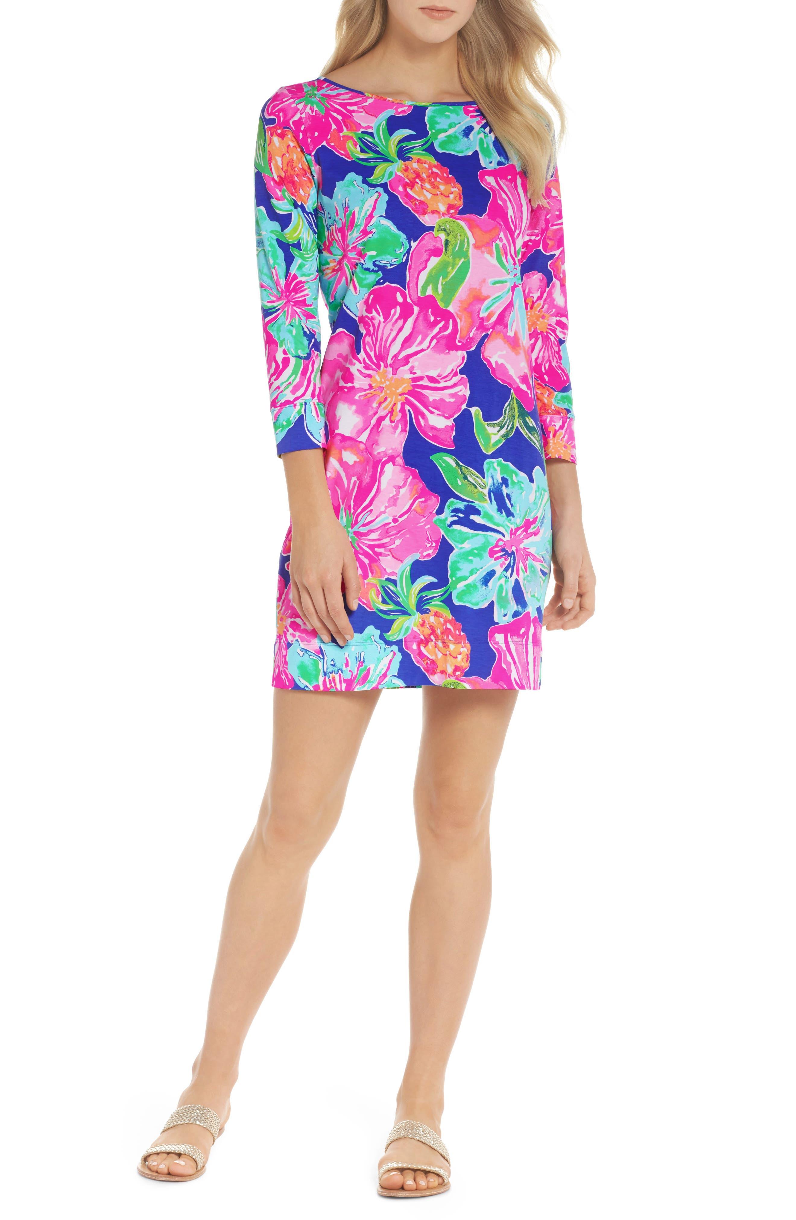 Marlowe Shift Dress,                         Main,                         color, BECKON BLUE JUNGLE UTOPIA