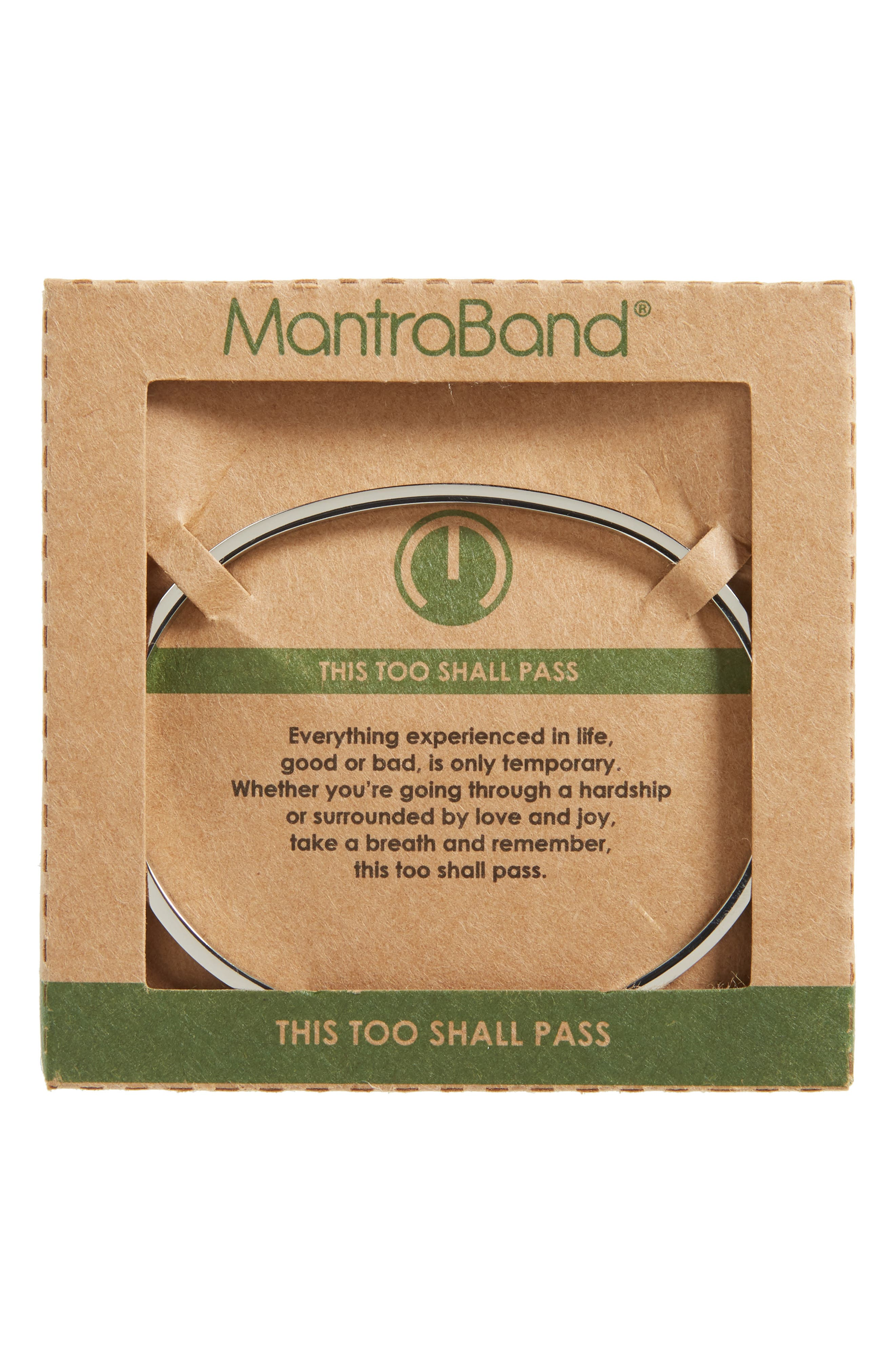 This Too Shall Pass Wrist Cuff,                             Alternate thumbnail 4, color,