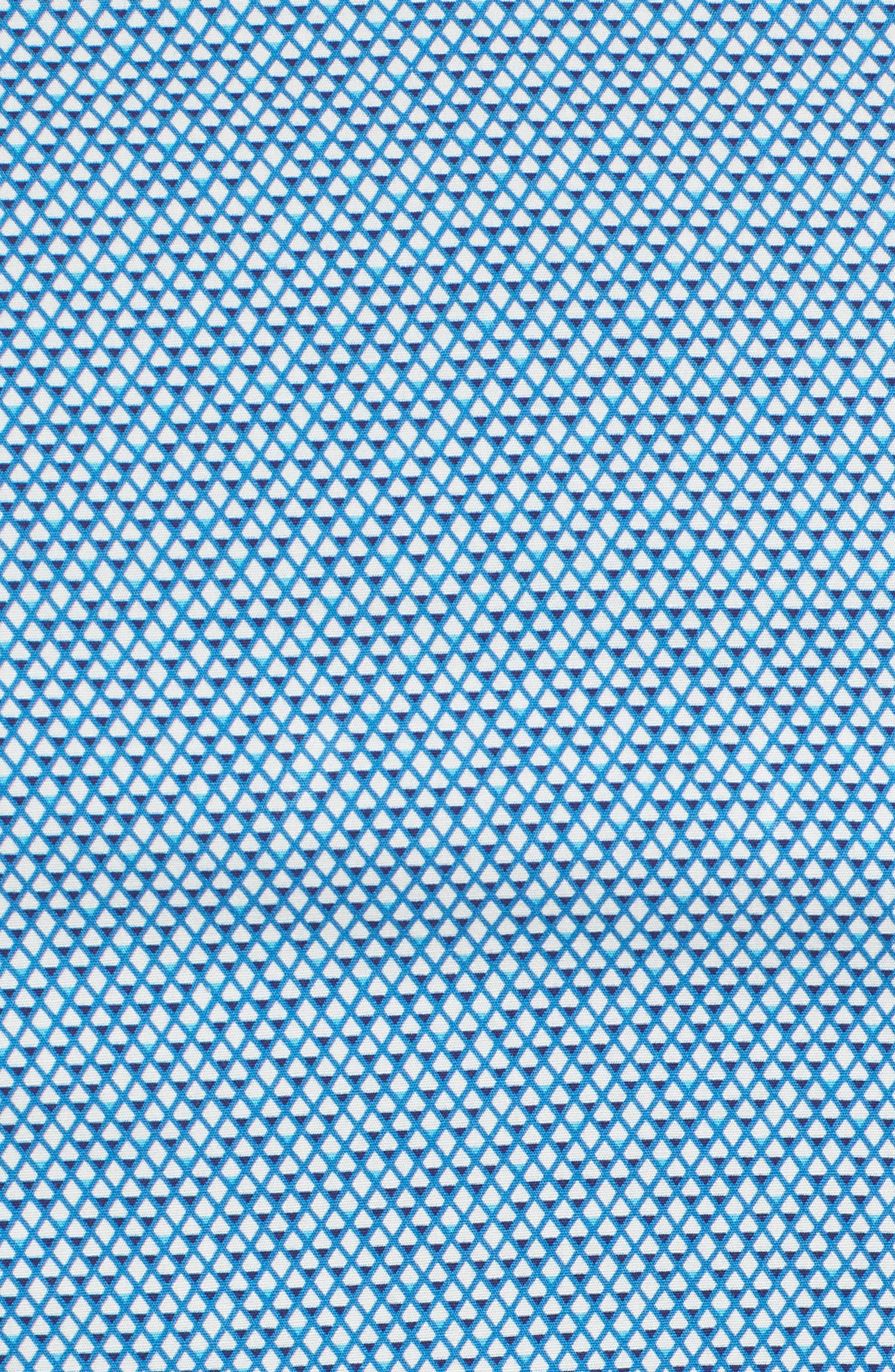Slim Fit Diamond Print Sport Shirt,                             Alternate thumbnail 5, color,                             435