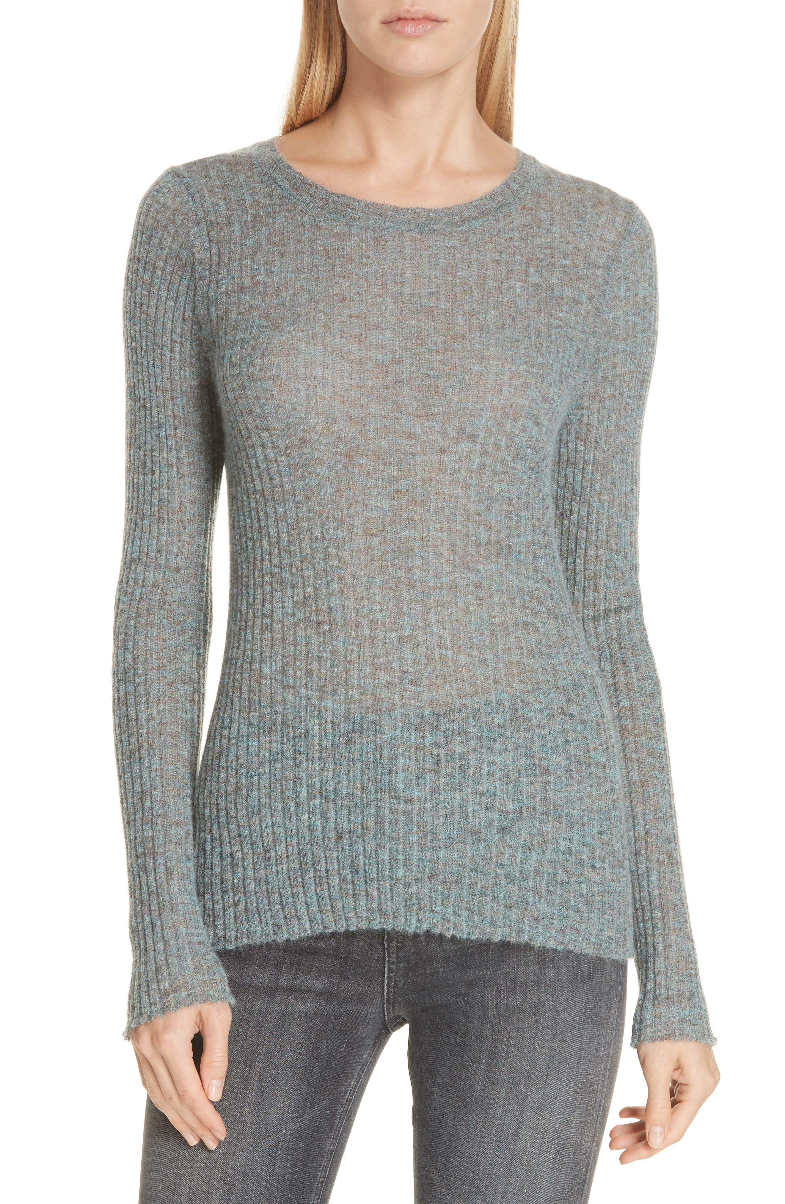 Rag & Bone Donna Mohair & Wool Blend Sweater, Blue