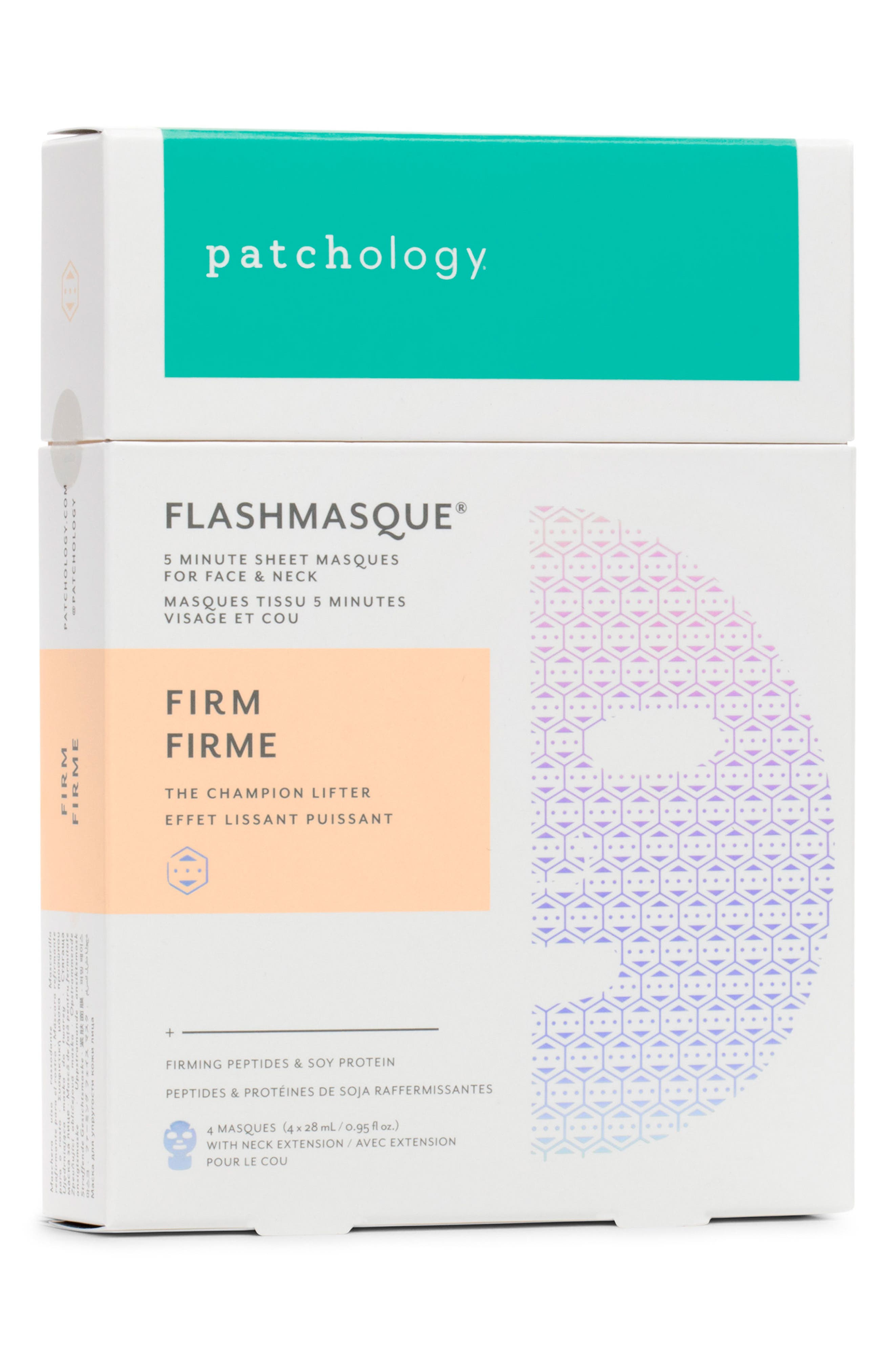 FlashMasque<sup>®</sup> Firm 5-Minute Face & Neck Sheet Mask,                             Alternate thumbnail 2, color,                             NO COLOR