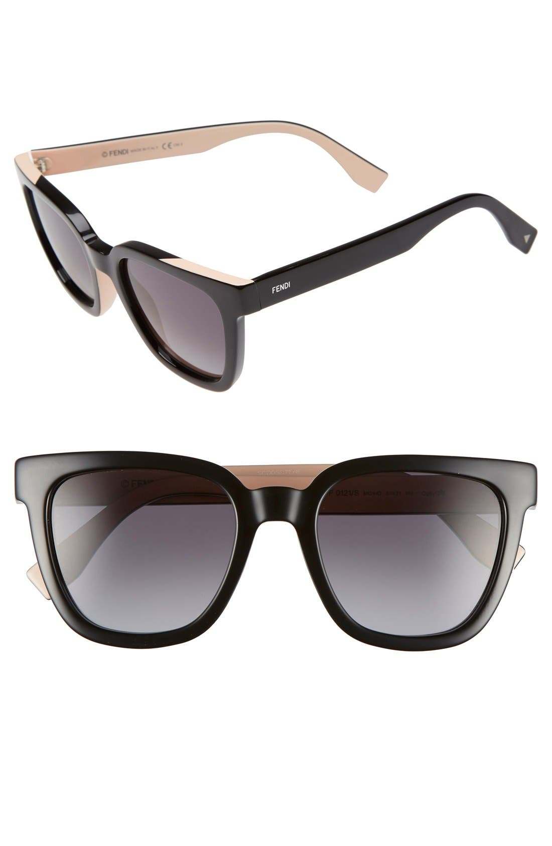 51mm Sunglasses,                         Main,                         color, 001