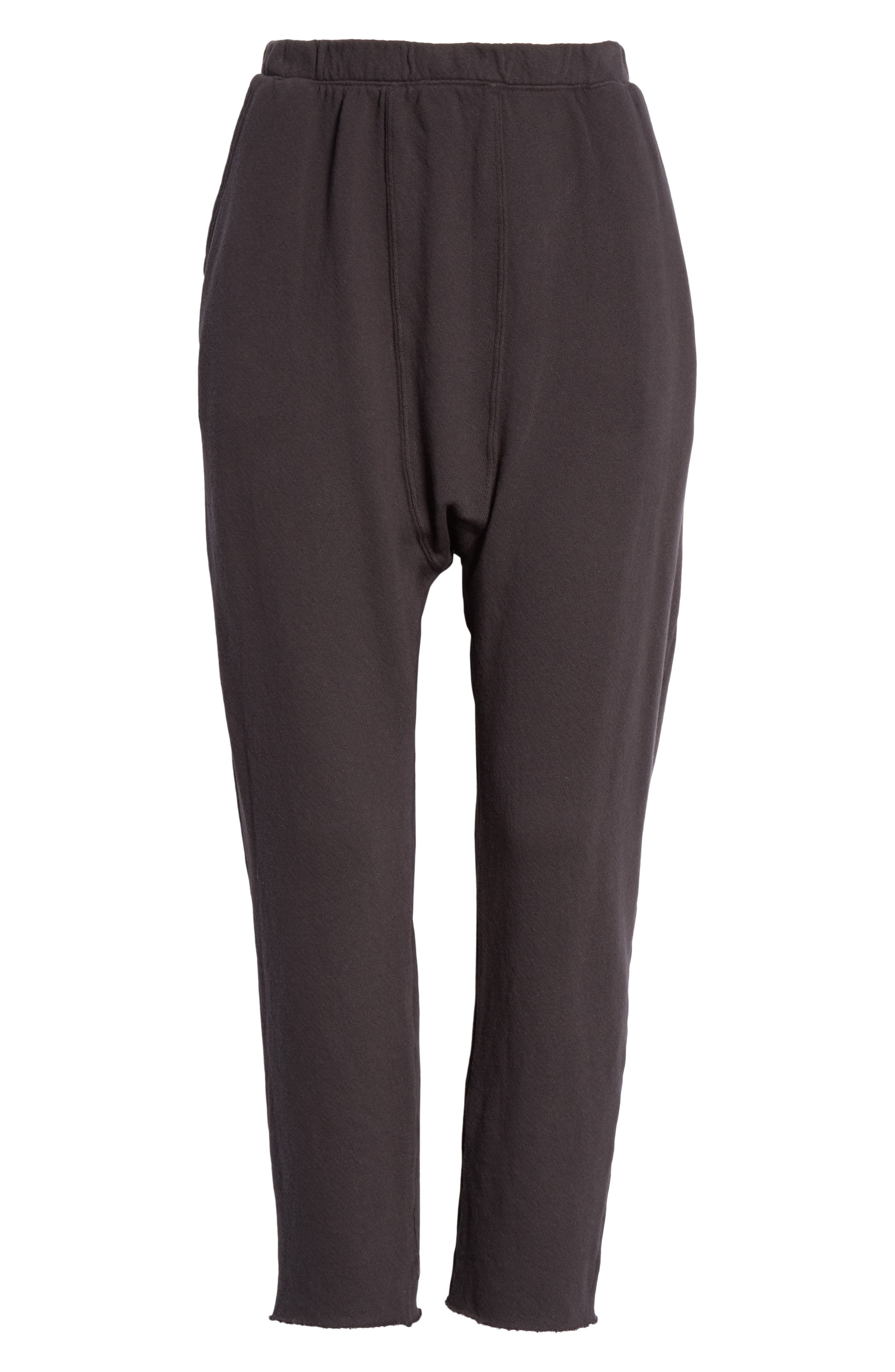 The Pajama Sweatpants,                             Alternate thumbnail 6, color,                             ALMOST BLACK