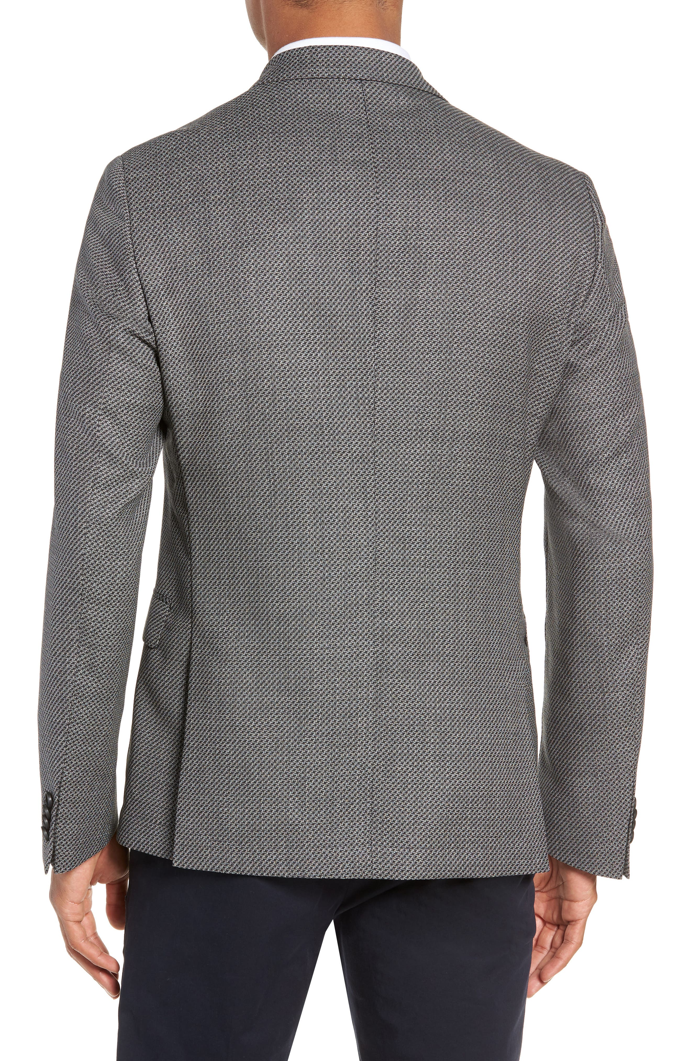 Nobis Trim Fit Houndstooth Wool Sport Coat,                             Alternate thumbnail 2, color,