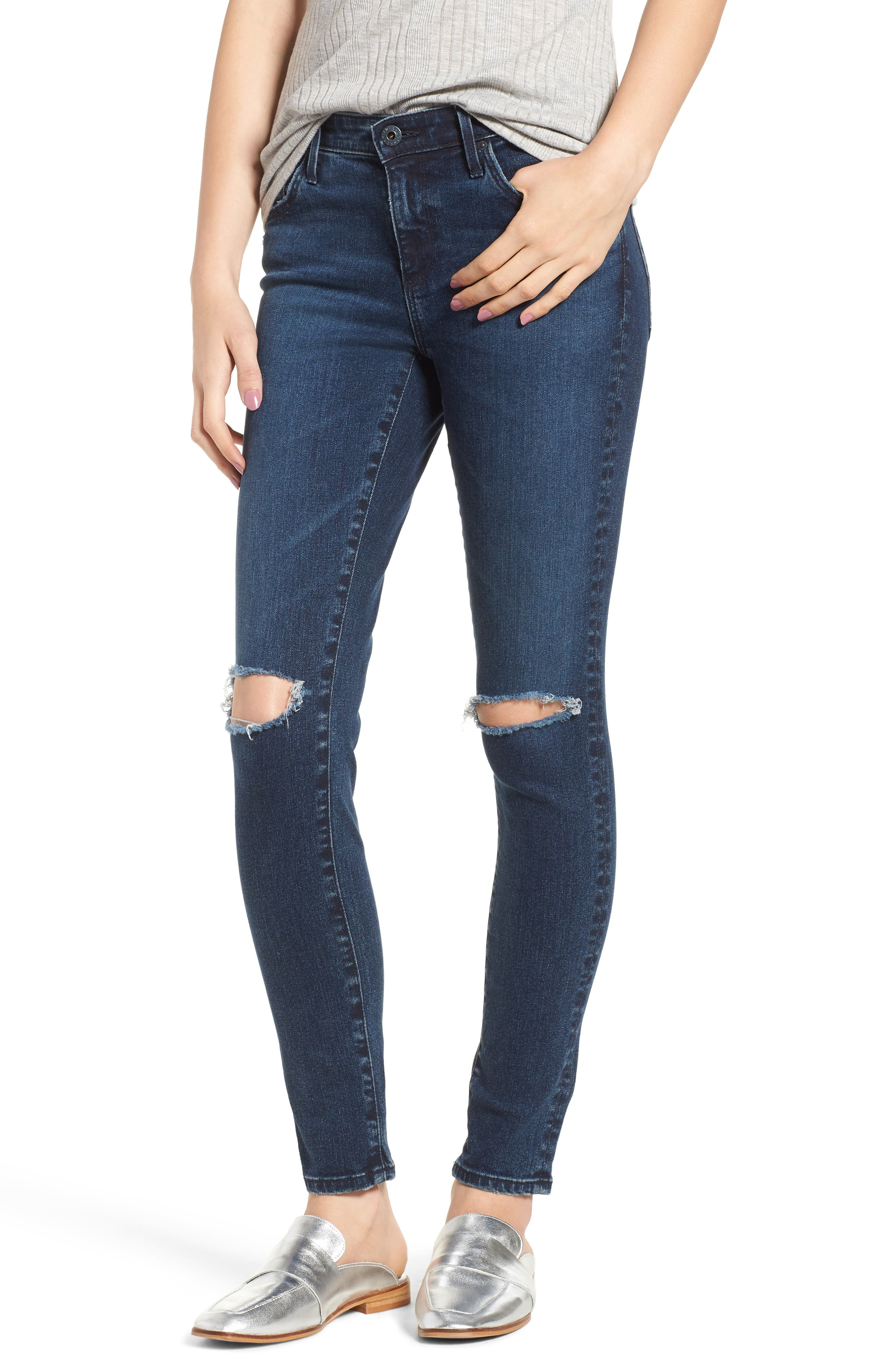 The Legging Ankle Super Skinny Jeans,                             Main thumbnail 1, color,                             ETHEREAL