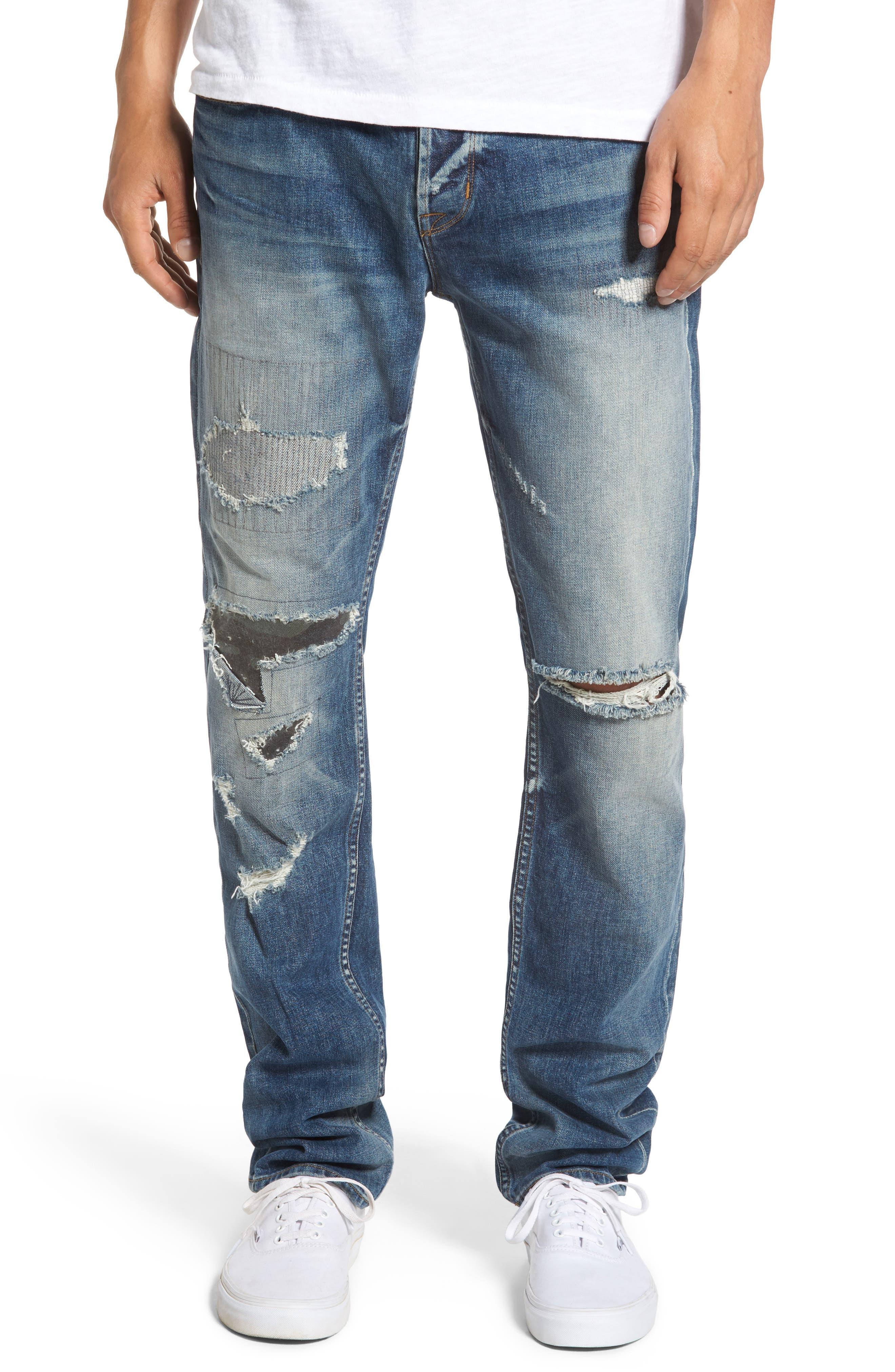 Sartor Slouchy Skinny Jeans,                             Main thumbnail 1, color,                             421