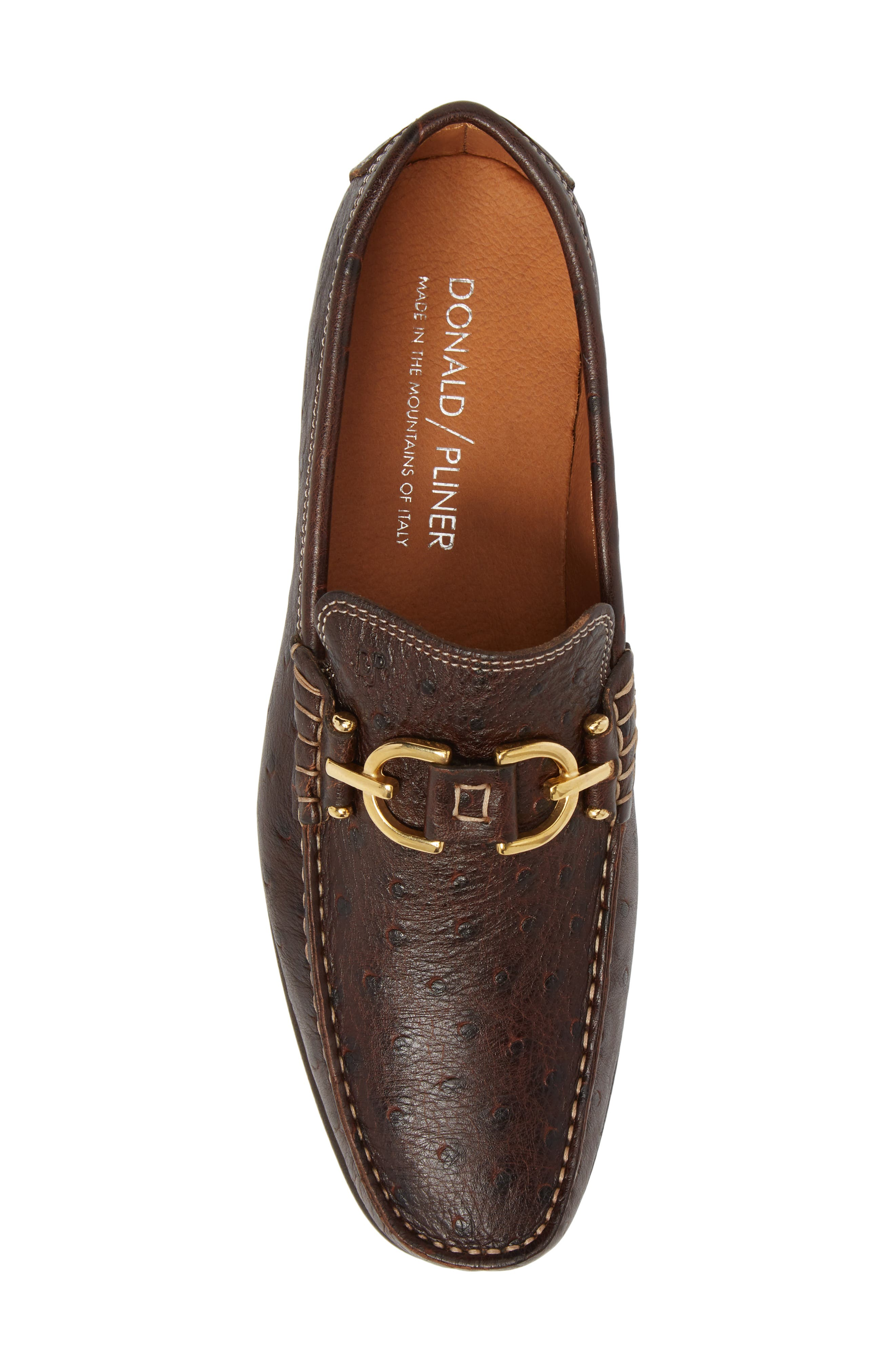 Dacio Square-Toe Loafer,                             Alternate thumbnail 5, color,                             BROWN LEATHER