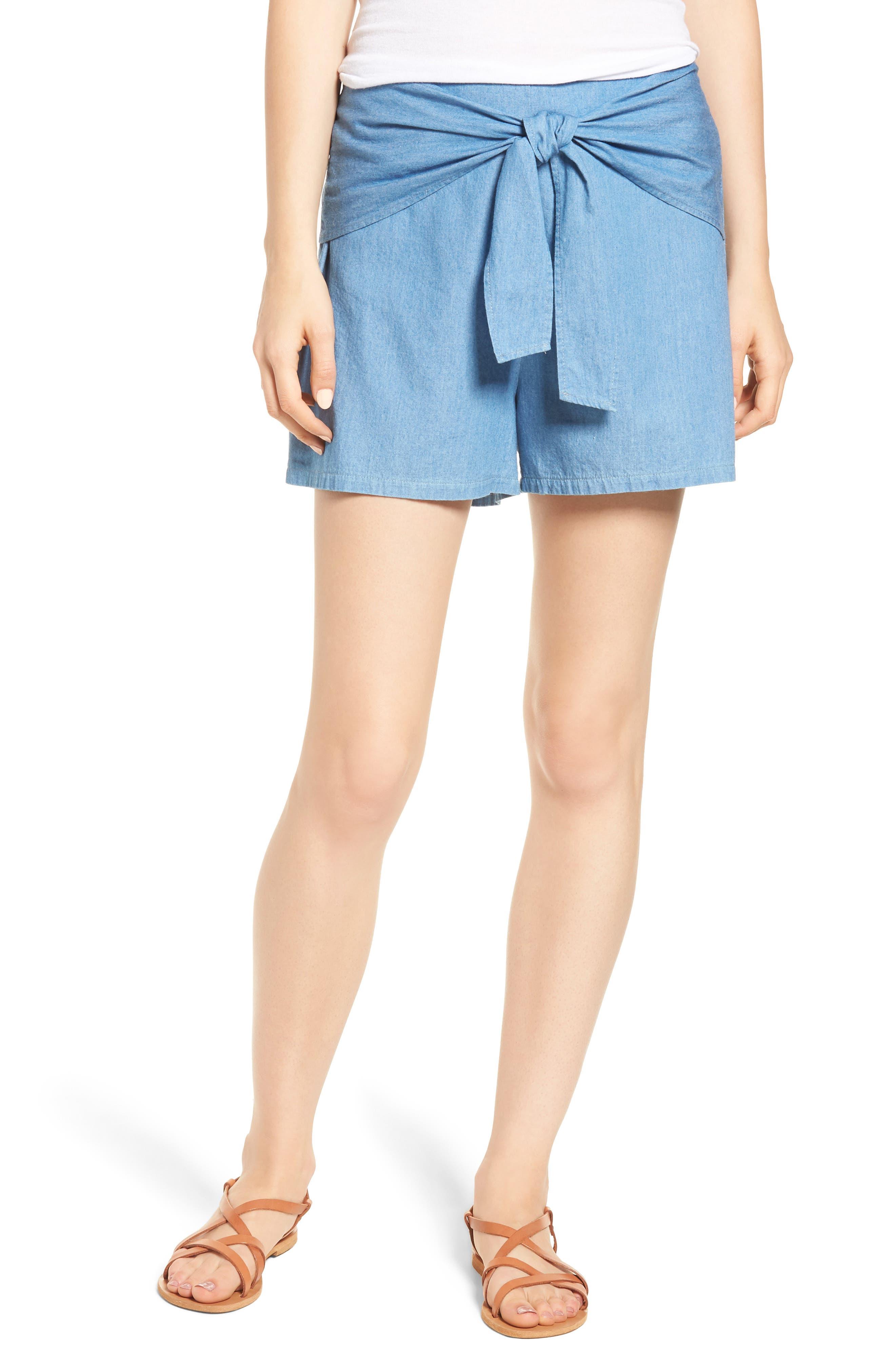 Tie Front Shorts,                             Main thumbnail 1, color,                             400