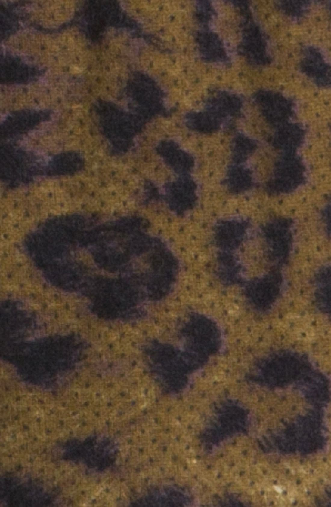 MAGASCHONI,                             Dotted Leopard Print Cashmere Scarf,                             Alternate thumbnail 2, color,                             200