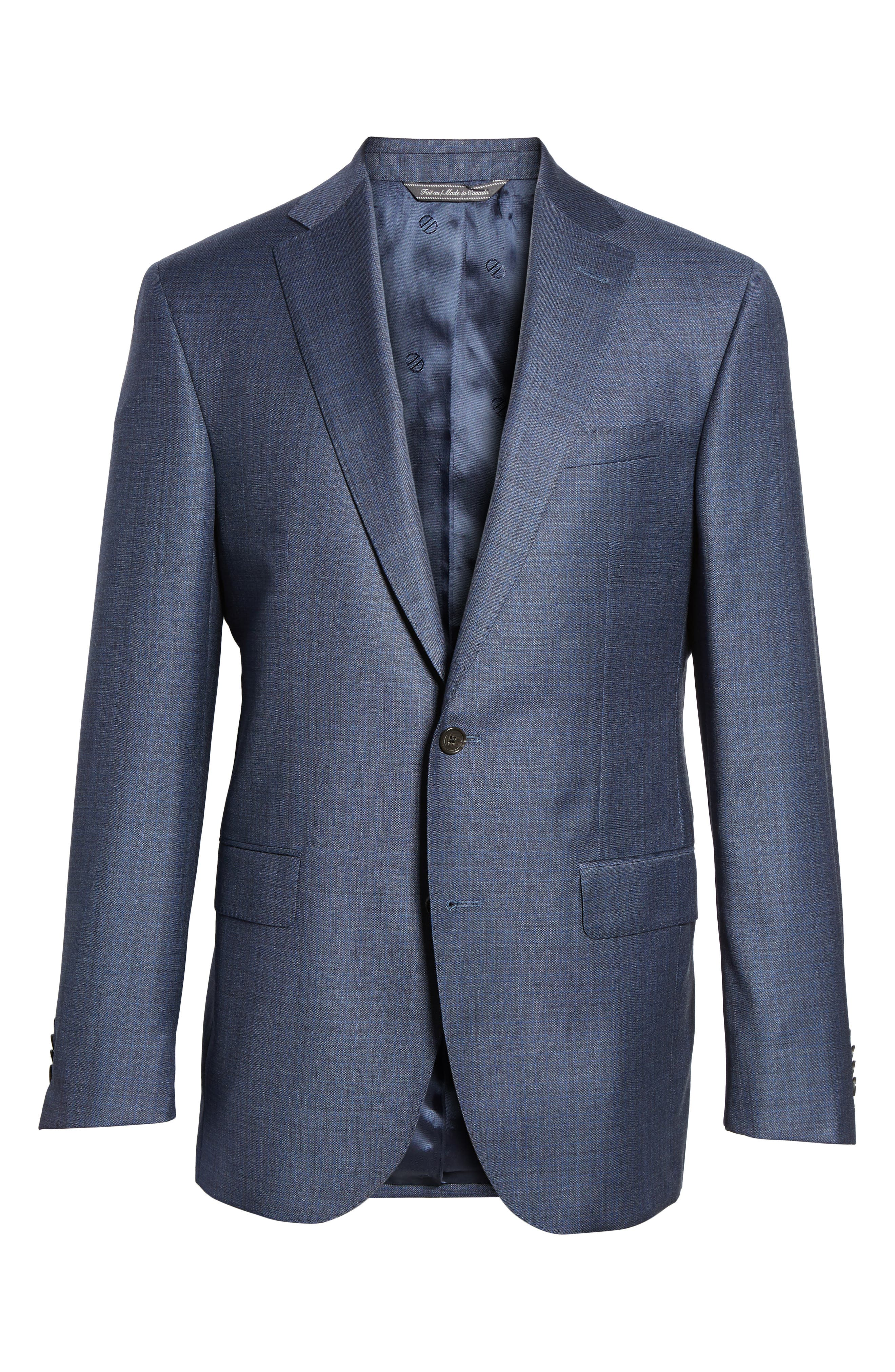 Ryan Classic Fit Check Wool Suit,                             Alternate thumbnail 8, color,                             420