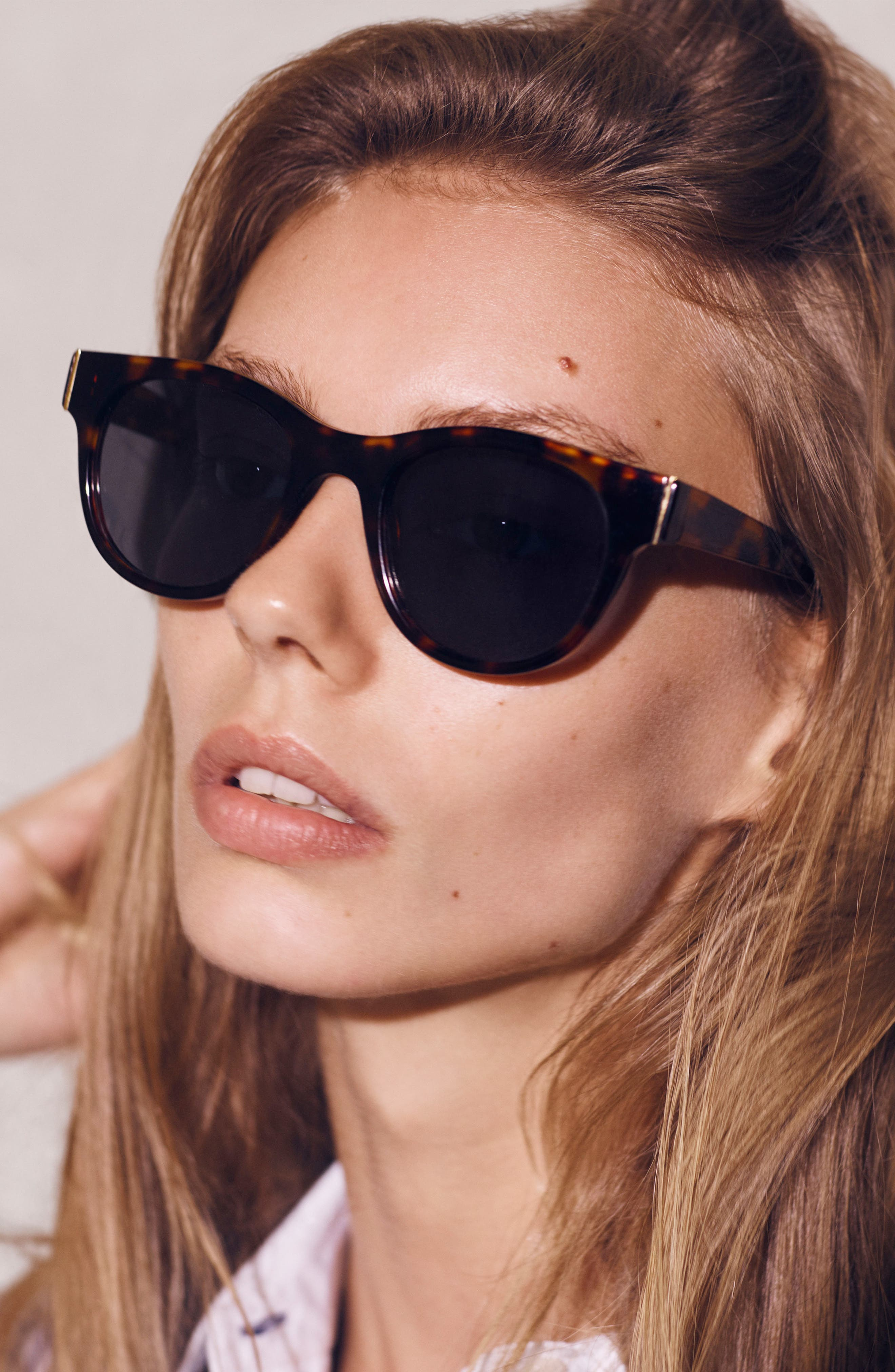 Blair 50mm Cat Eye Sunglasses,                             Alternate thumbnail 4, color,                             020