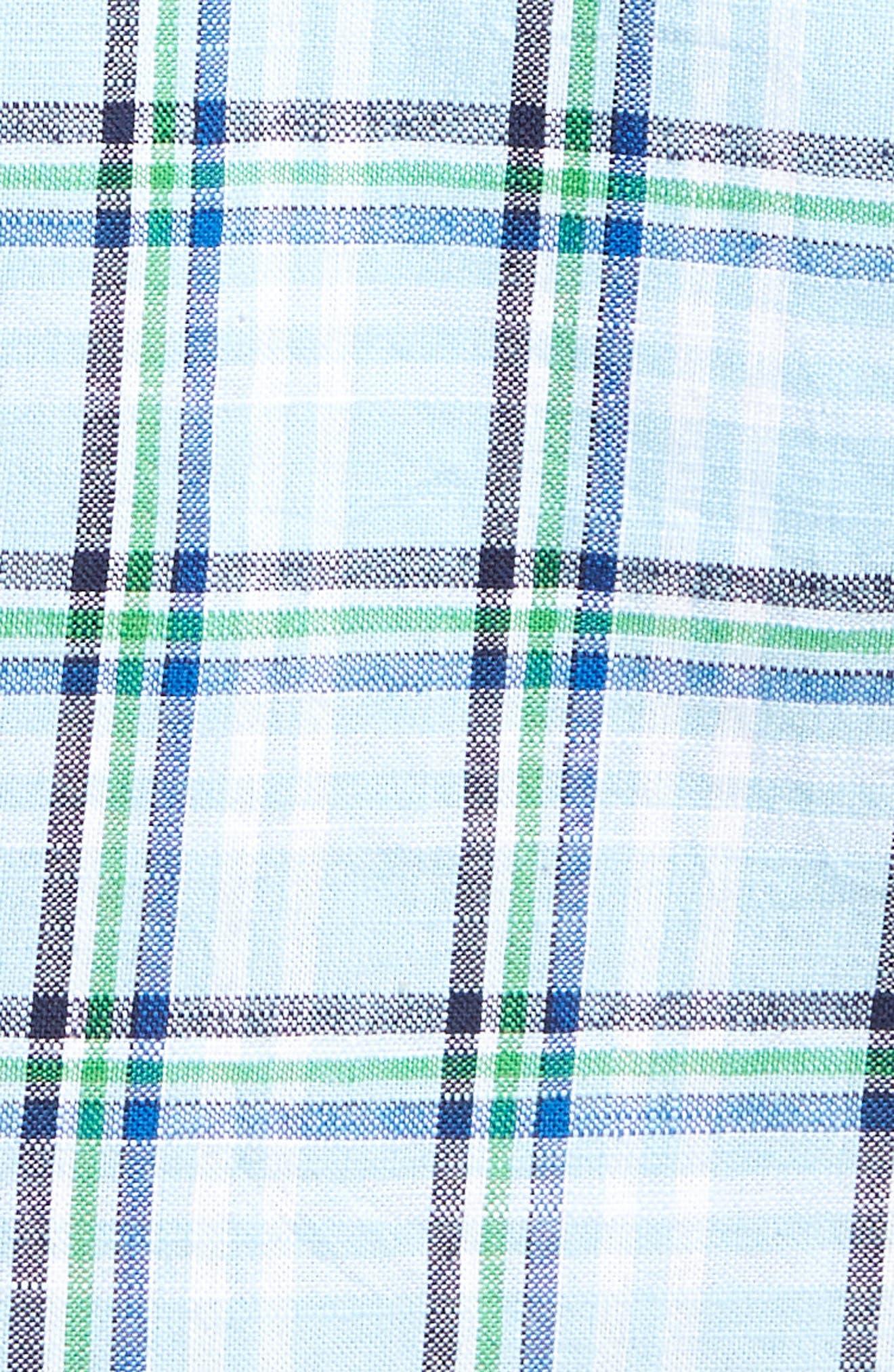 Plaid Oxford Sport Shirt,                             Alternate thumbnail 5, color,                             400