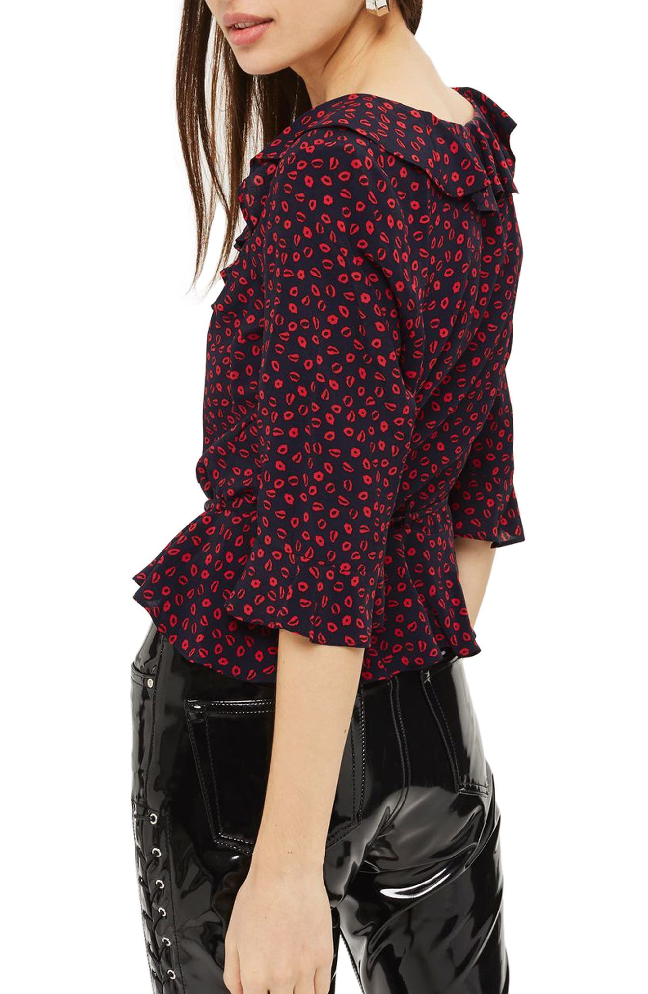 Phoebe Frilly Blouse,                             Alternate thumbnail 10, color,