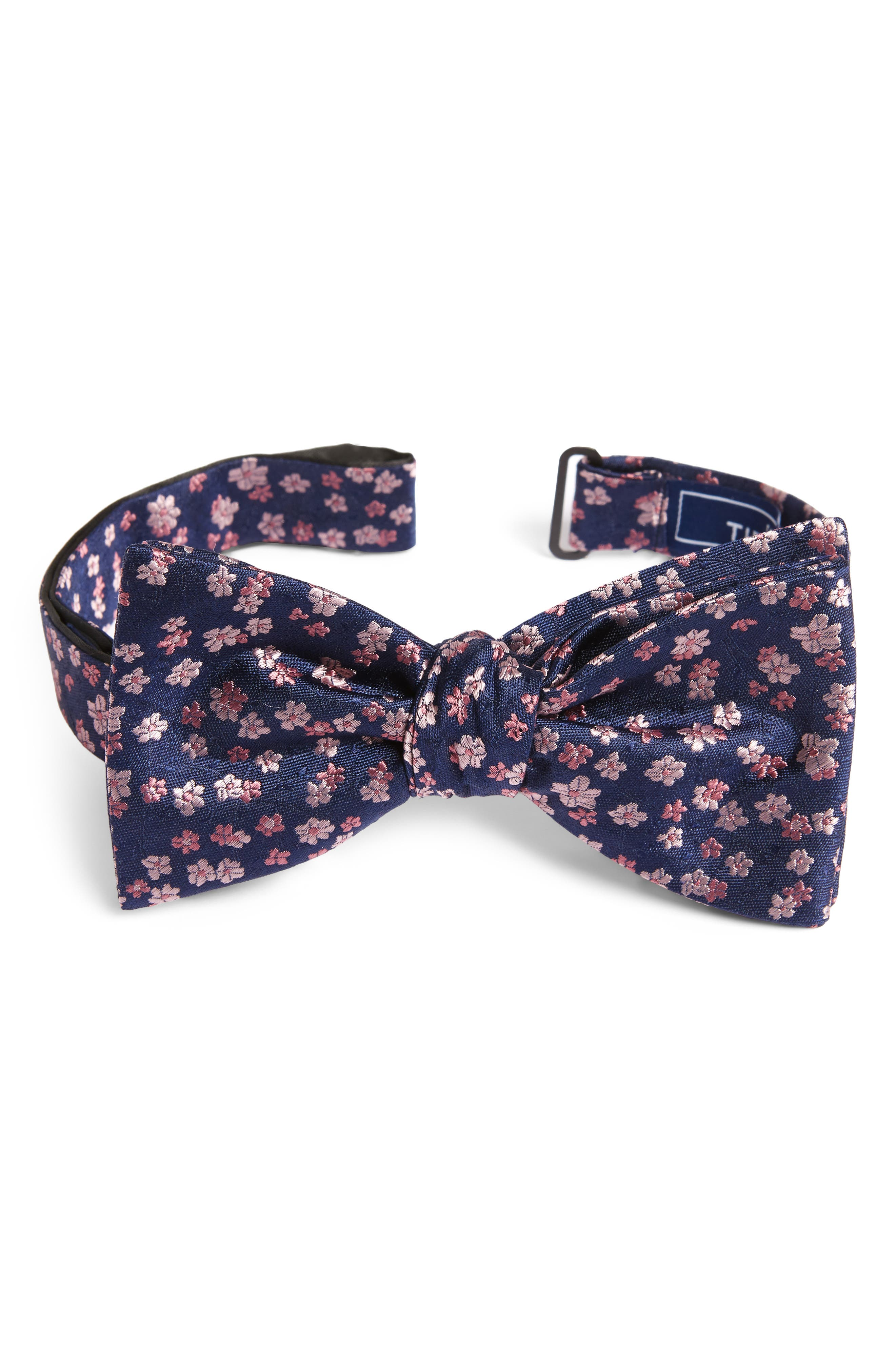 Free Fall Floral Silk Bow Tie,                             Main thumbnail 3, color,