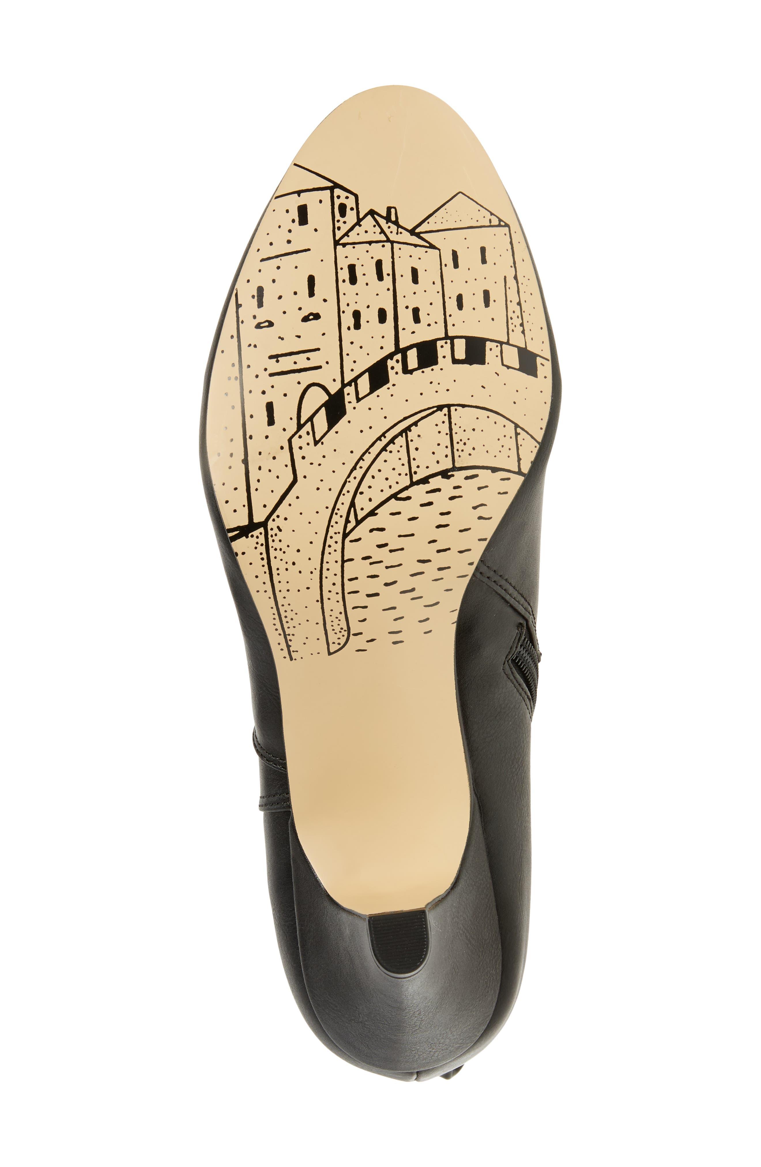 Toni II Knee High Boot,                             Alternate thumbnail 6, color,                             BLACK