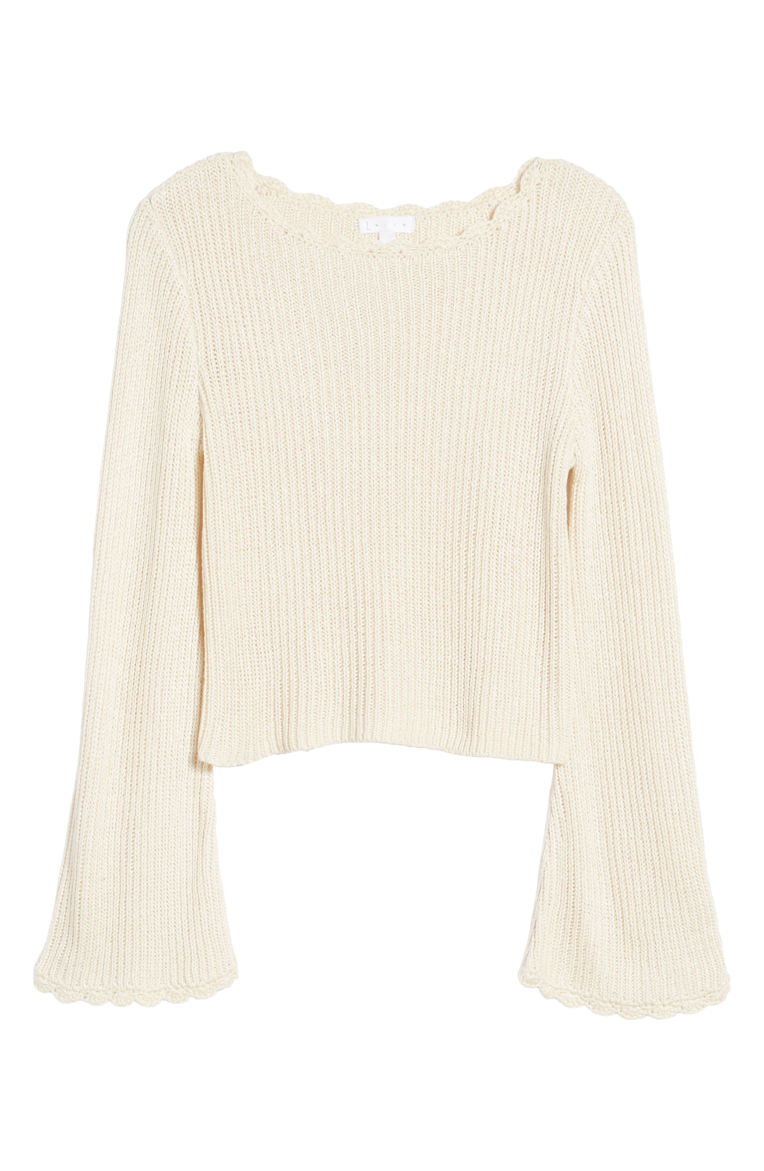 Scallop Edge Sweater,                             Alternate thumbnail 6, color,                             900
