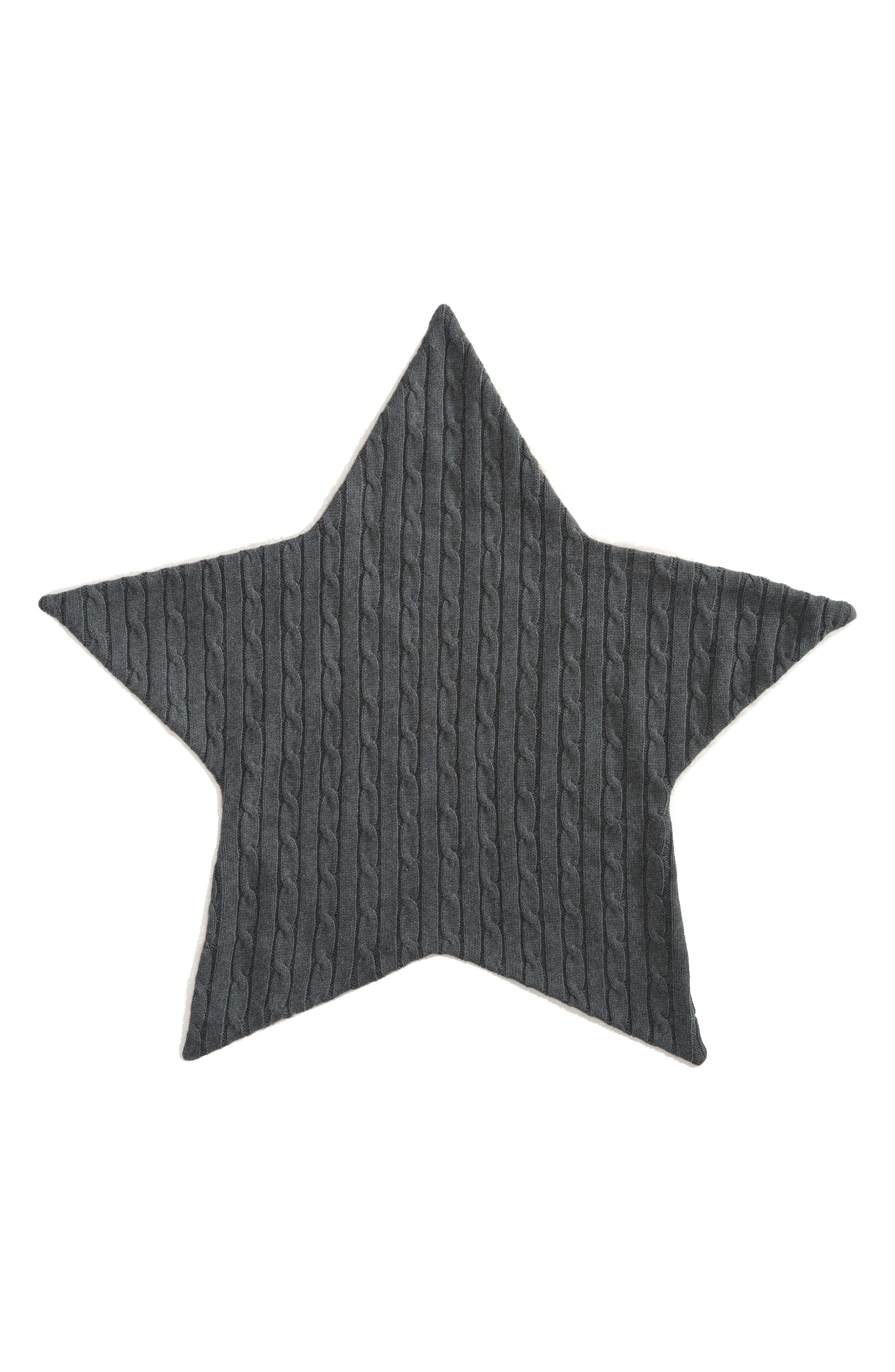 Cable Knit Star Blanket,                         Main,                         color, 020