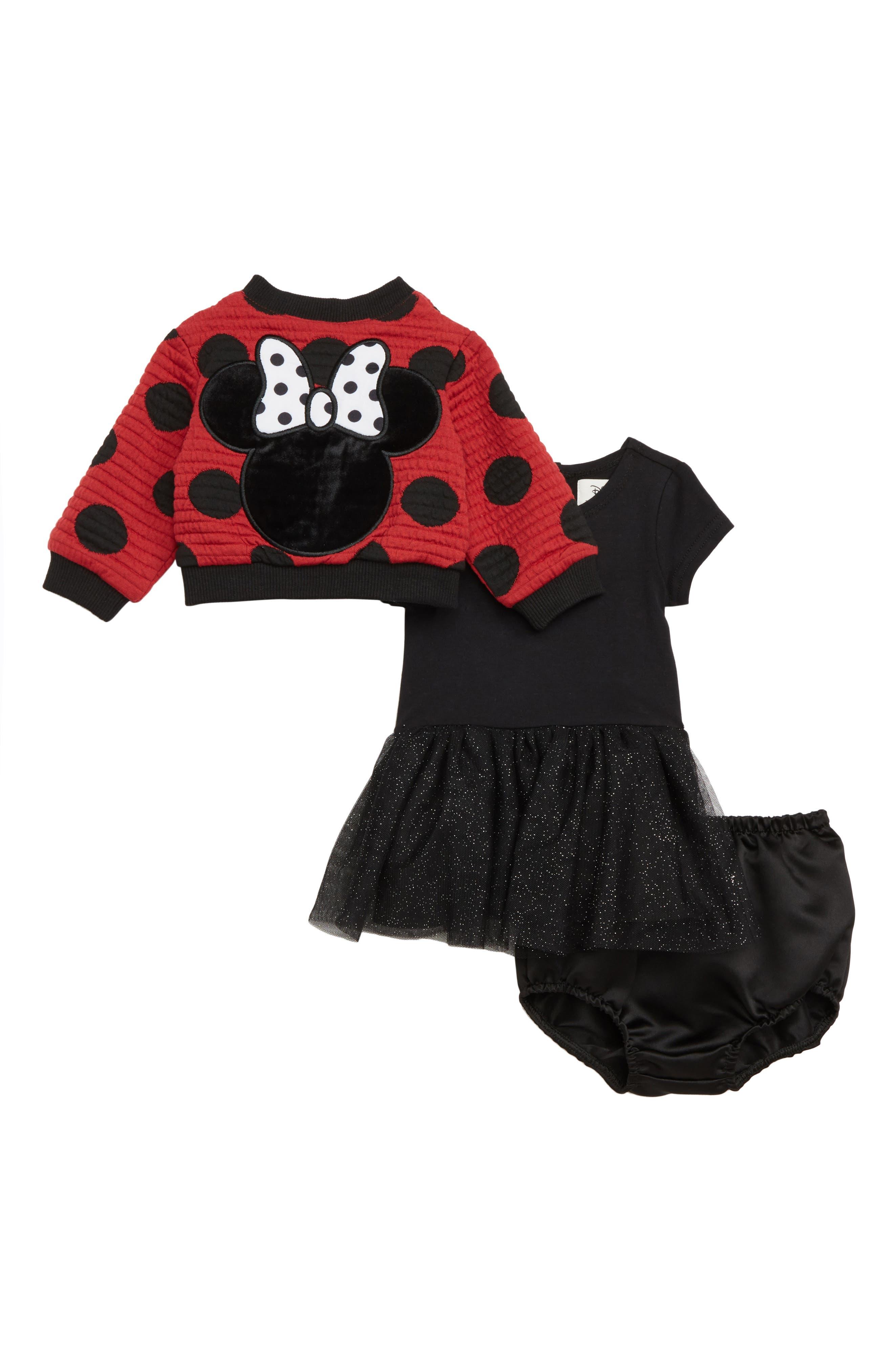 x Disney Minnie Mouse Tutu Dress & Reversible Bomber Jacket Set,                             Alternate thumbnail 3, color,                             619