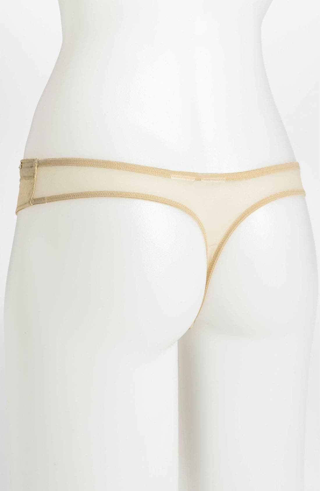 'Satin Structure' Thong,                             Alternate thumbnail 4, color,