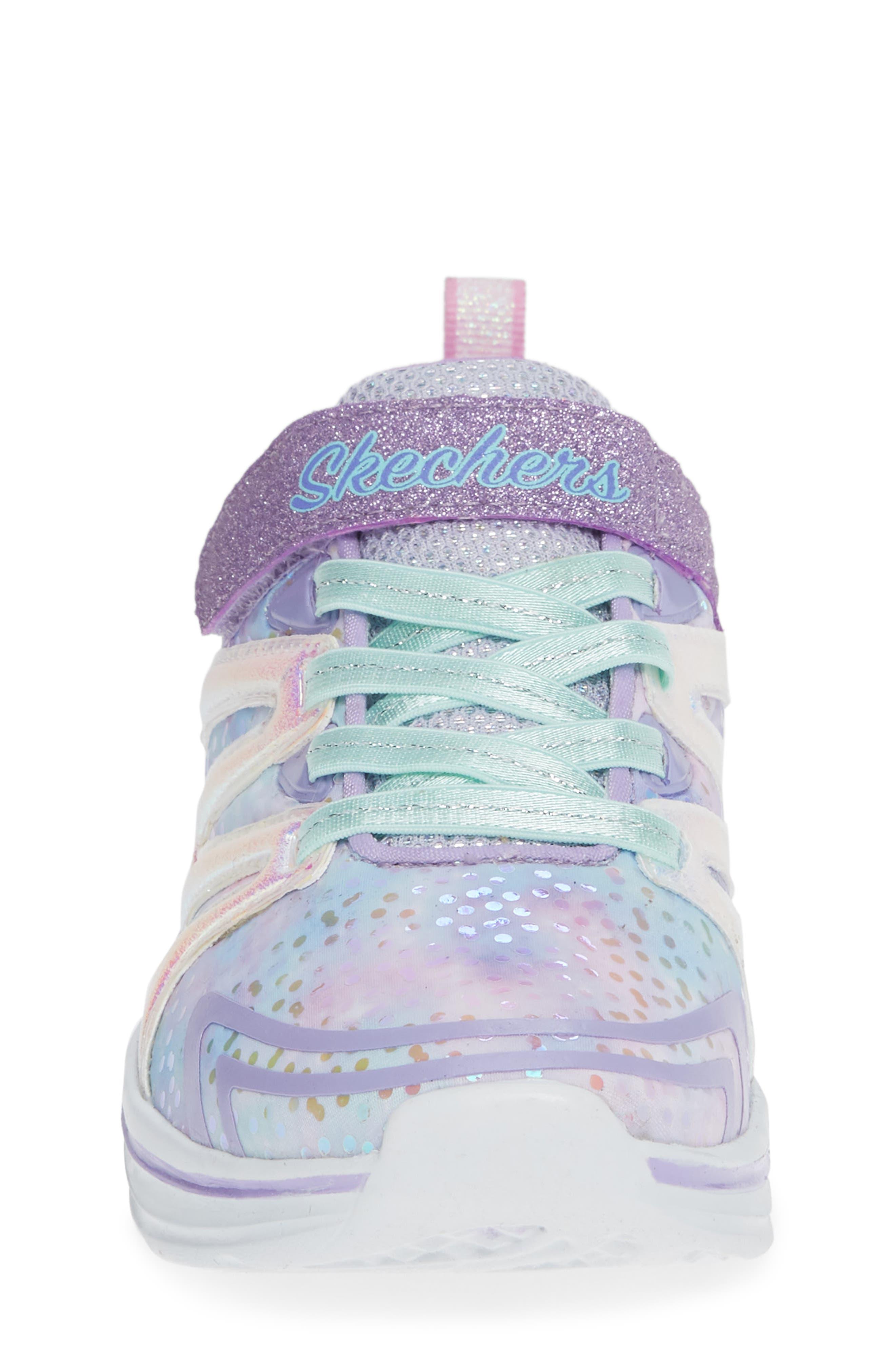 Double Dreams Shimmer Sneaker,                             Alternate thumbnail 4, color,                             LAVENDER/ MULTI