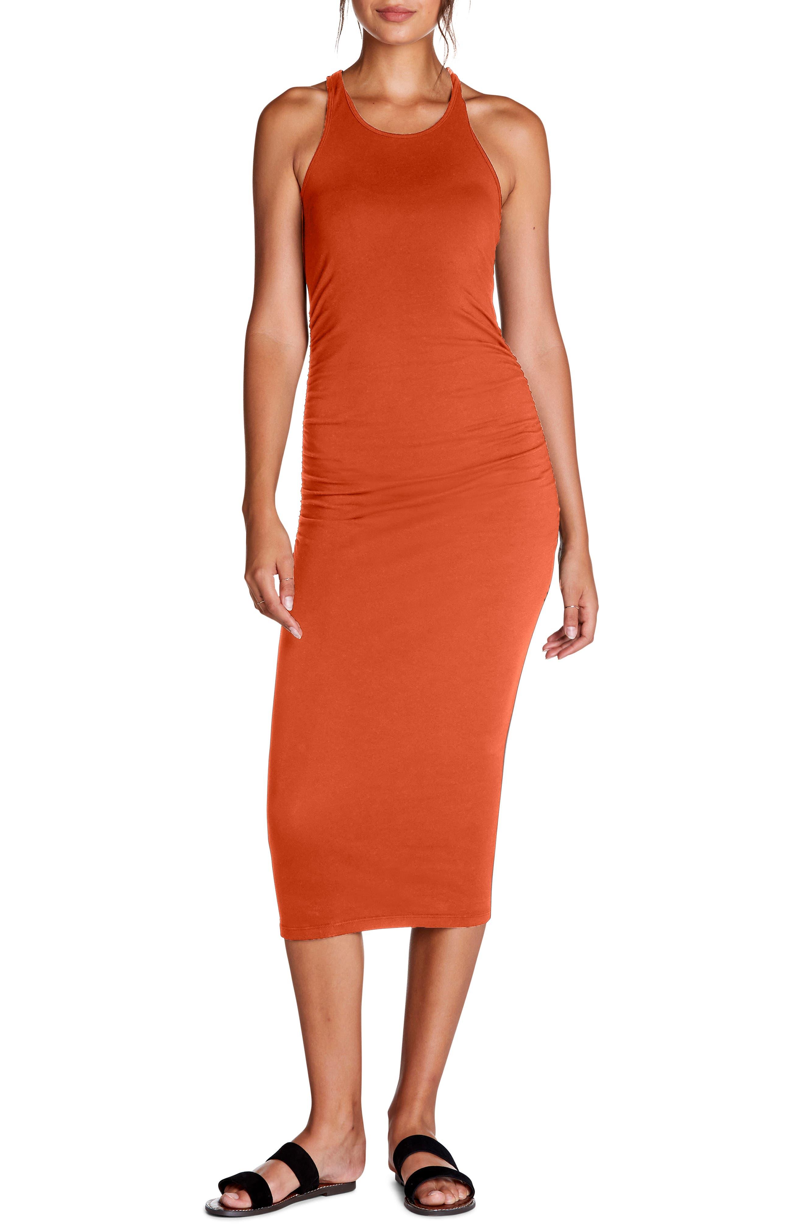 Michael Stars Racerback Midi Dress, Orange