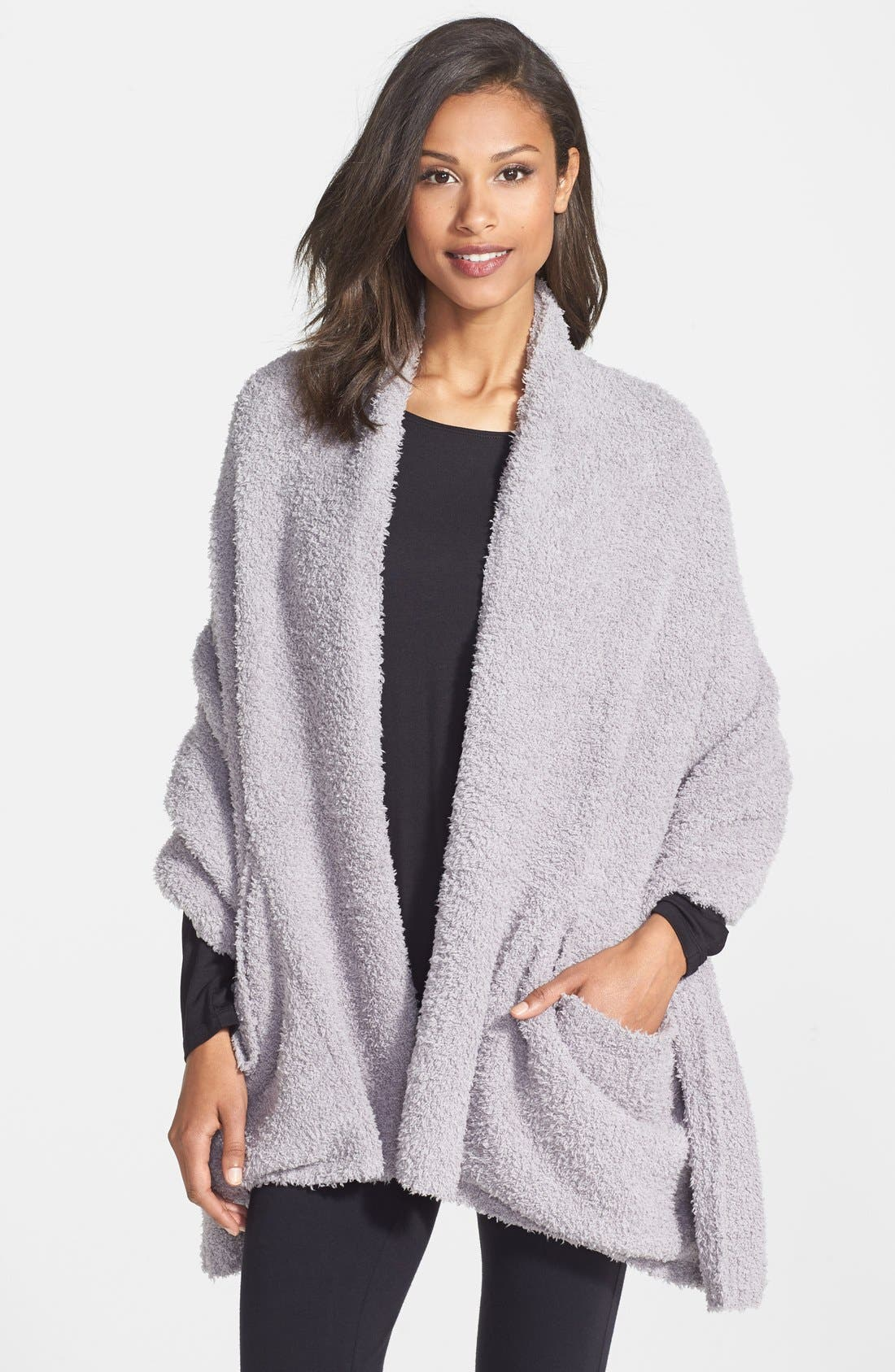 Barefoot Dreams Cozychic Travel Shawl, Size One Size - Grey (Online Only)