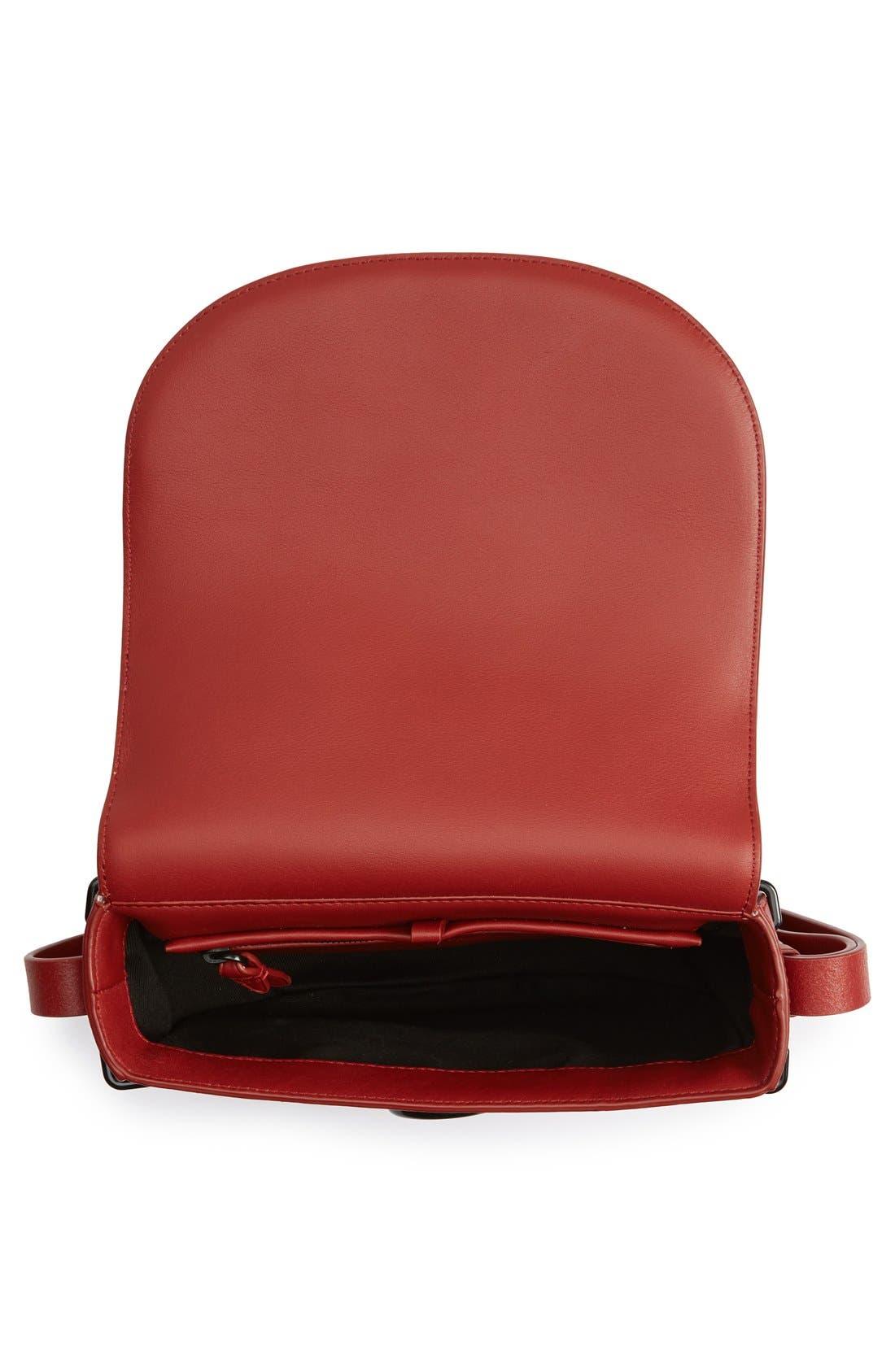 Alix Leather Saddle Bag,                             Alternate thumbnail 12, color,