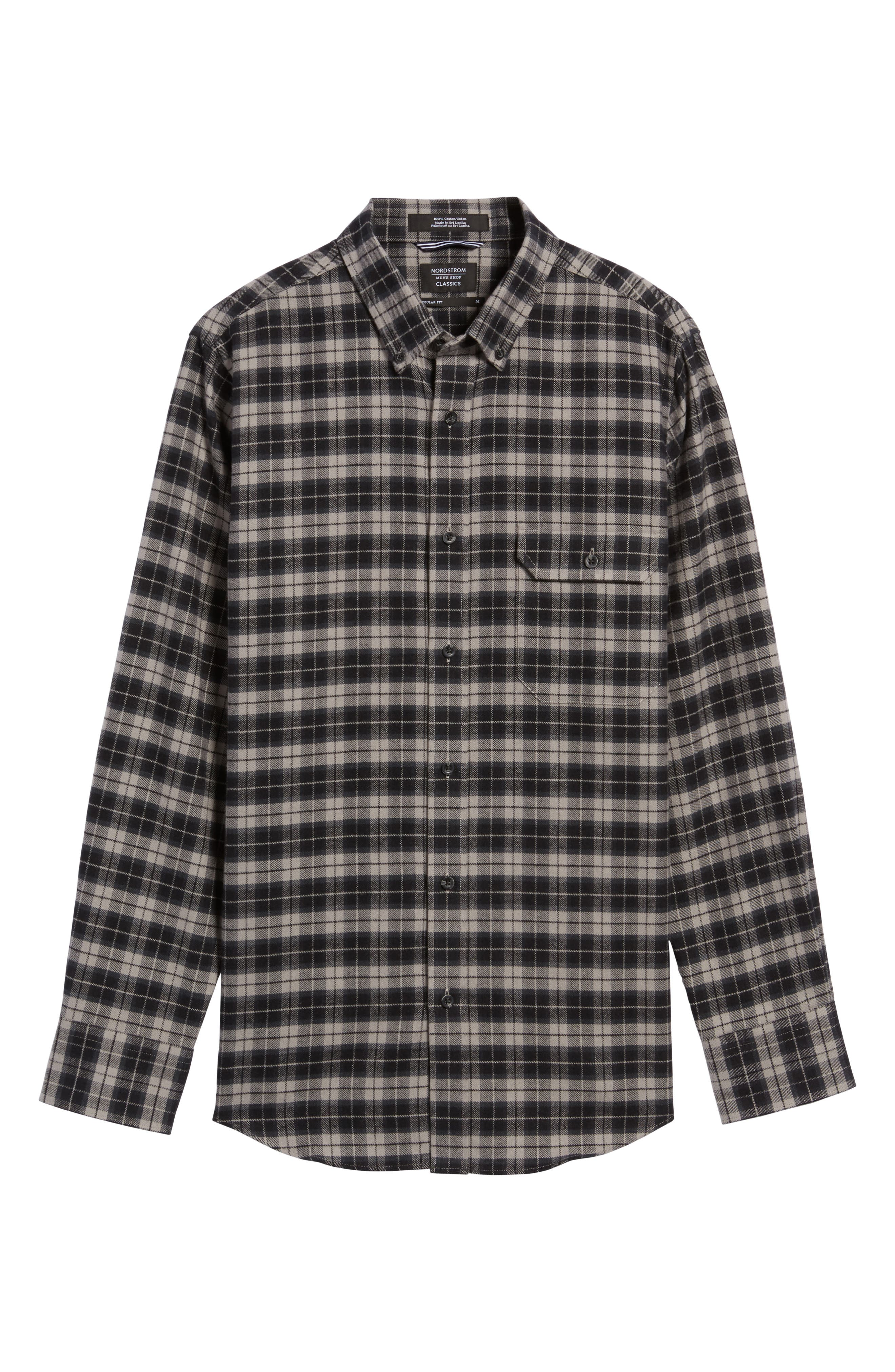 Regular Fit Plaid Sport Shirt,                             Alternate thumbnail 6, color,                             030