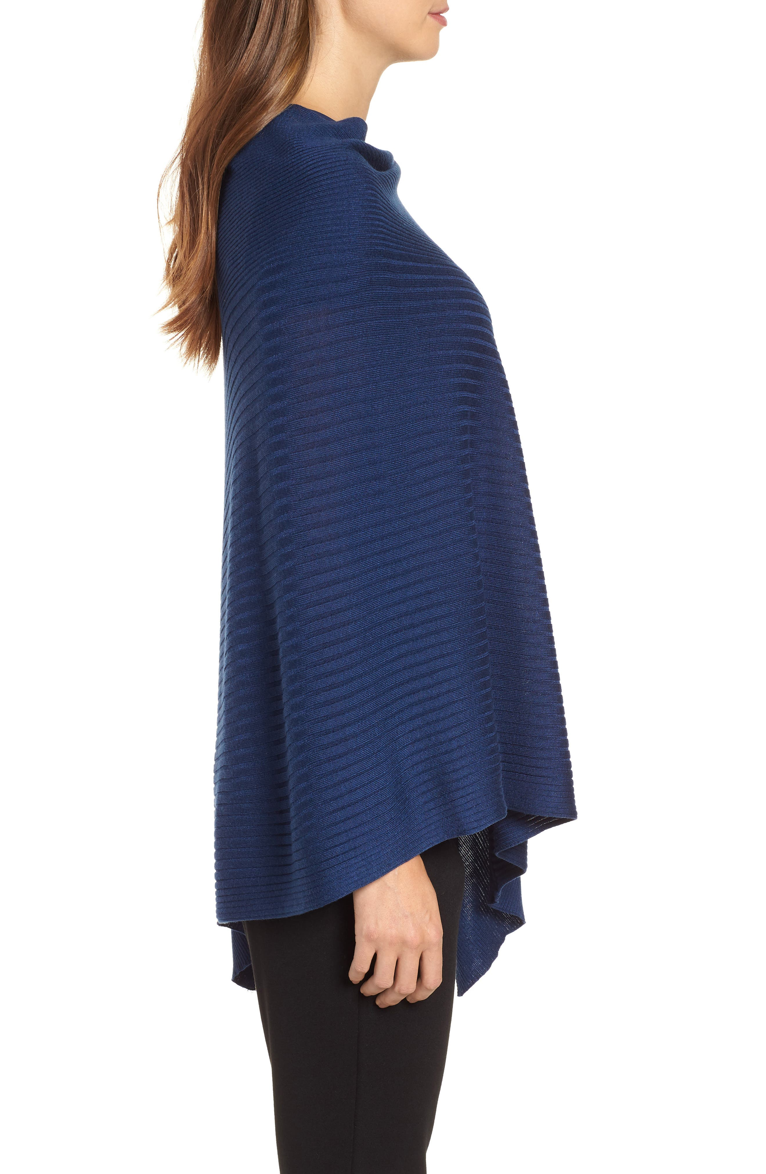 Bateau Neck Sweater Poncho,                             Alternate thumbnail 8, color,
