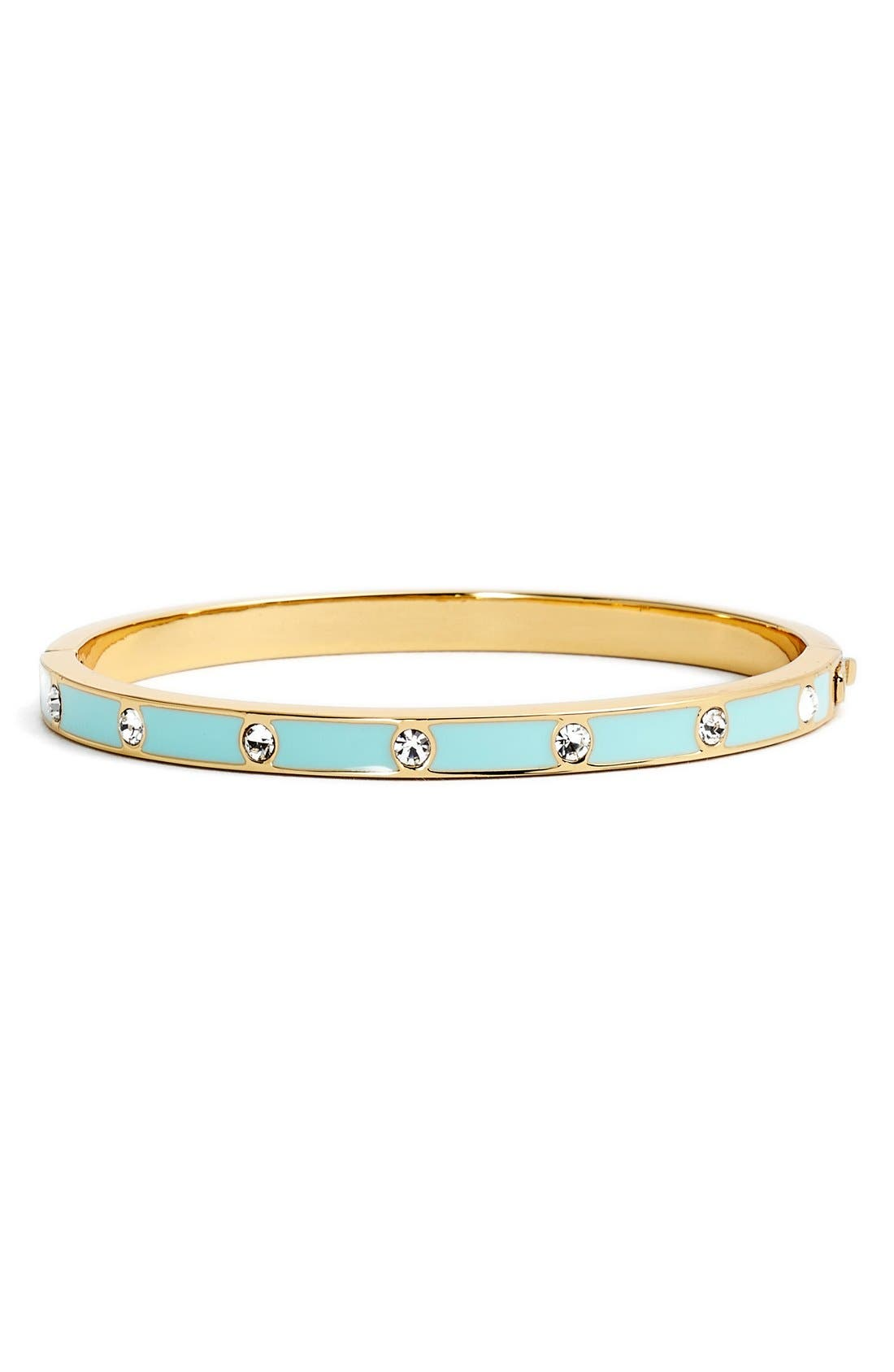 crystal & enamel hinge bangle,                             Main thumbnail 8, color,