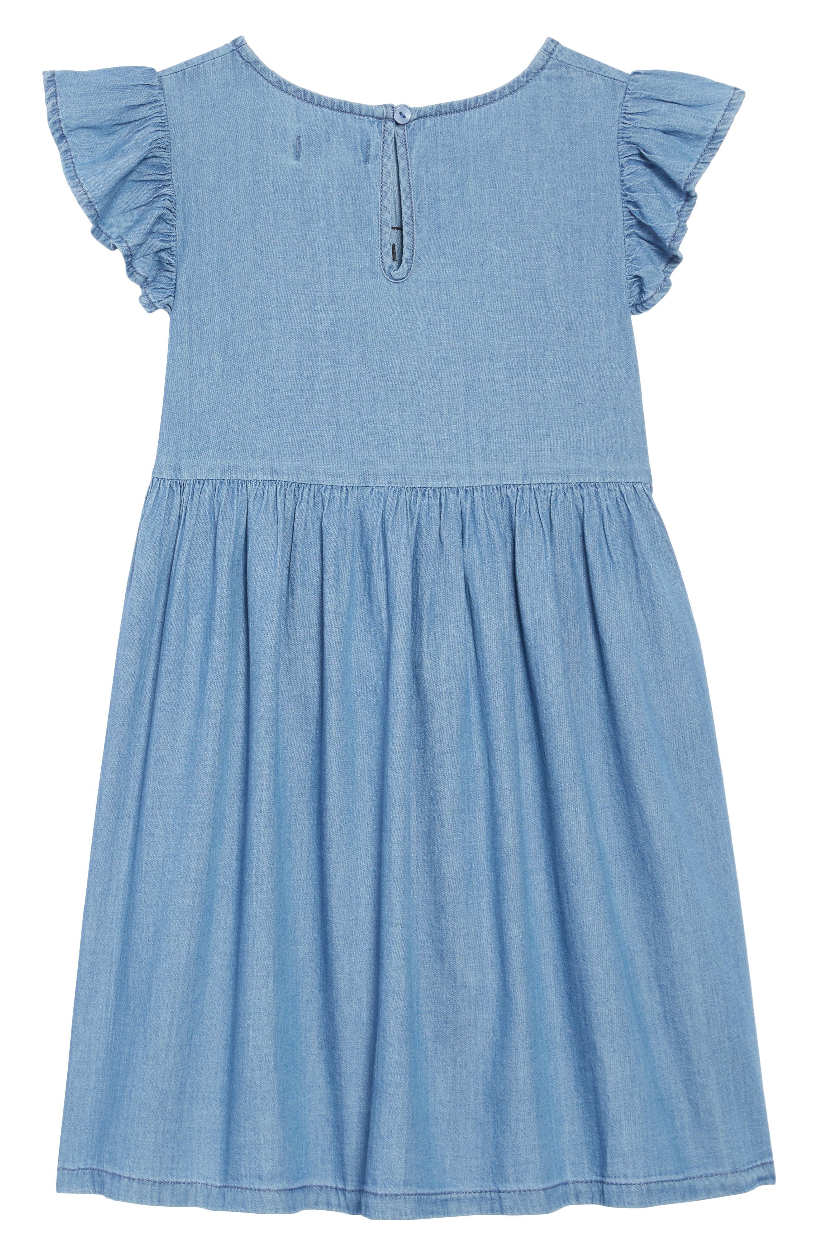 Embroidered Chambray Dress,                             Alternate thumbnail 2, color,                             WEST COAST WASH