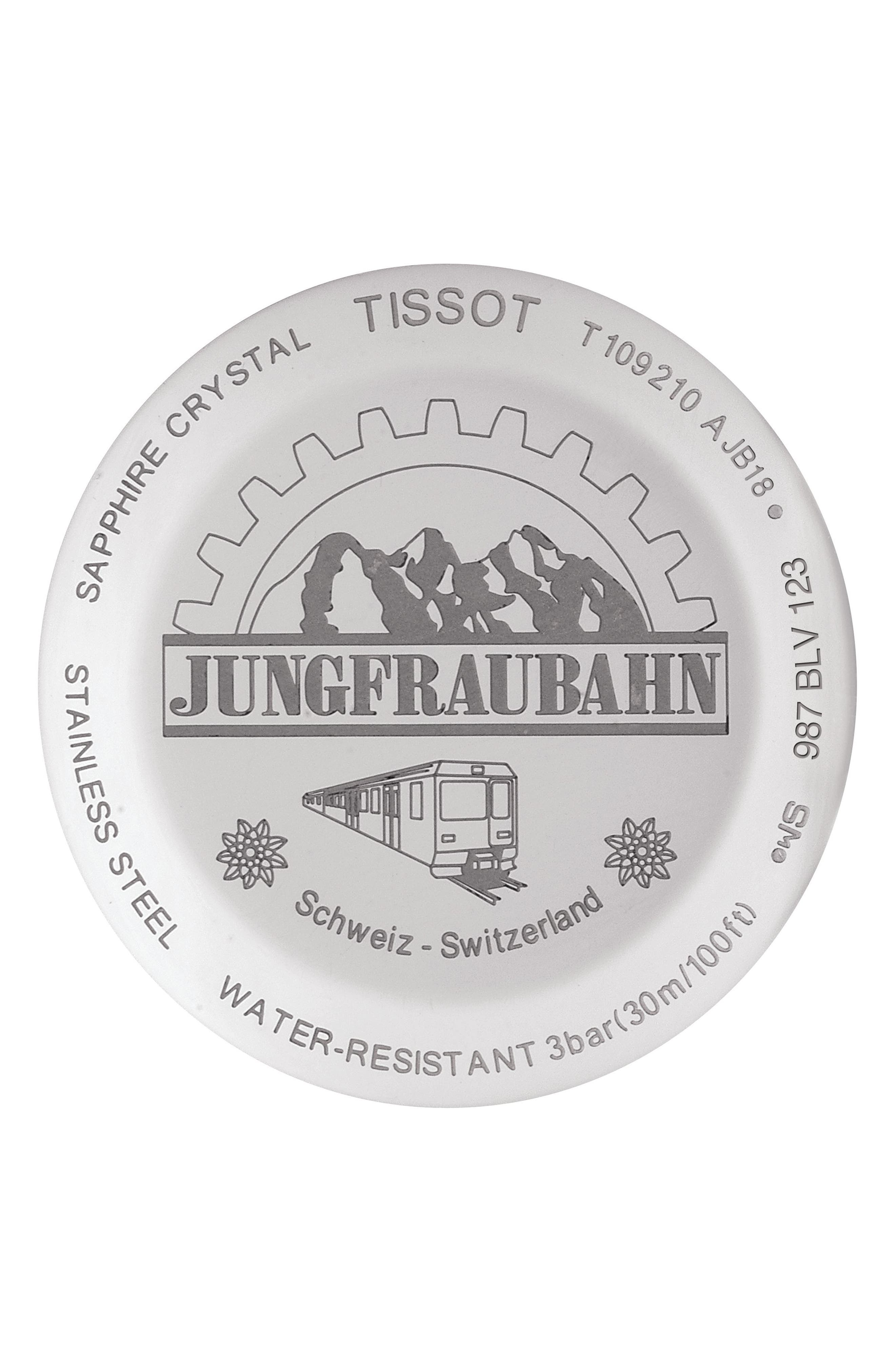 Jungfraubahn Limited-Edition Everytime Bracelet Watch, 30mm,                             Alternate thumbnail 2, color,                             SILVER