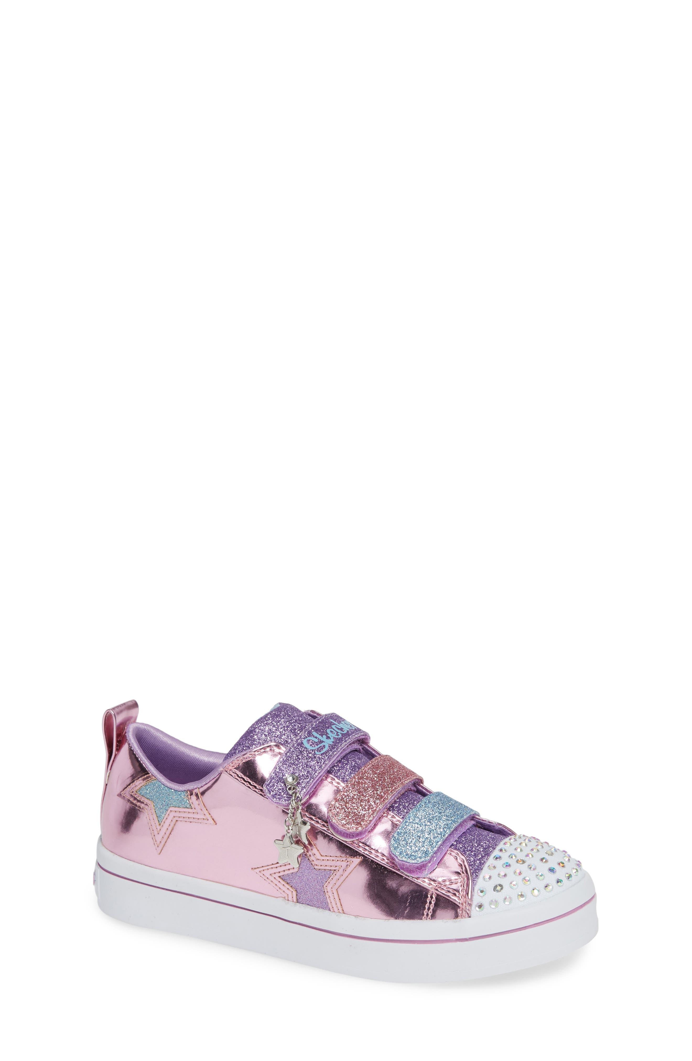 Twi-Lites Star Light-Up Sneaker,                             Main thumbnail 1, color,                             PINK/ MULTI