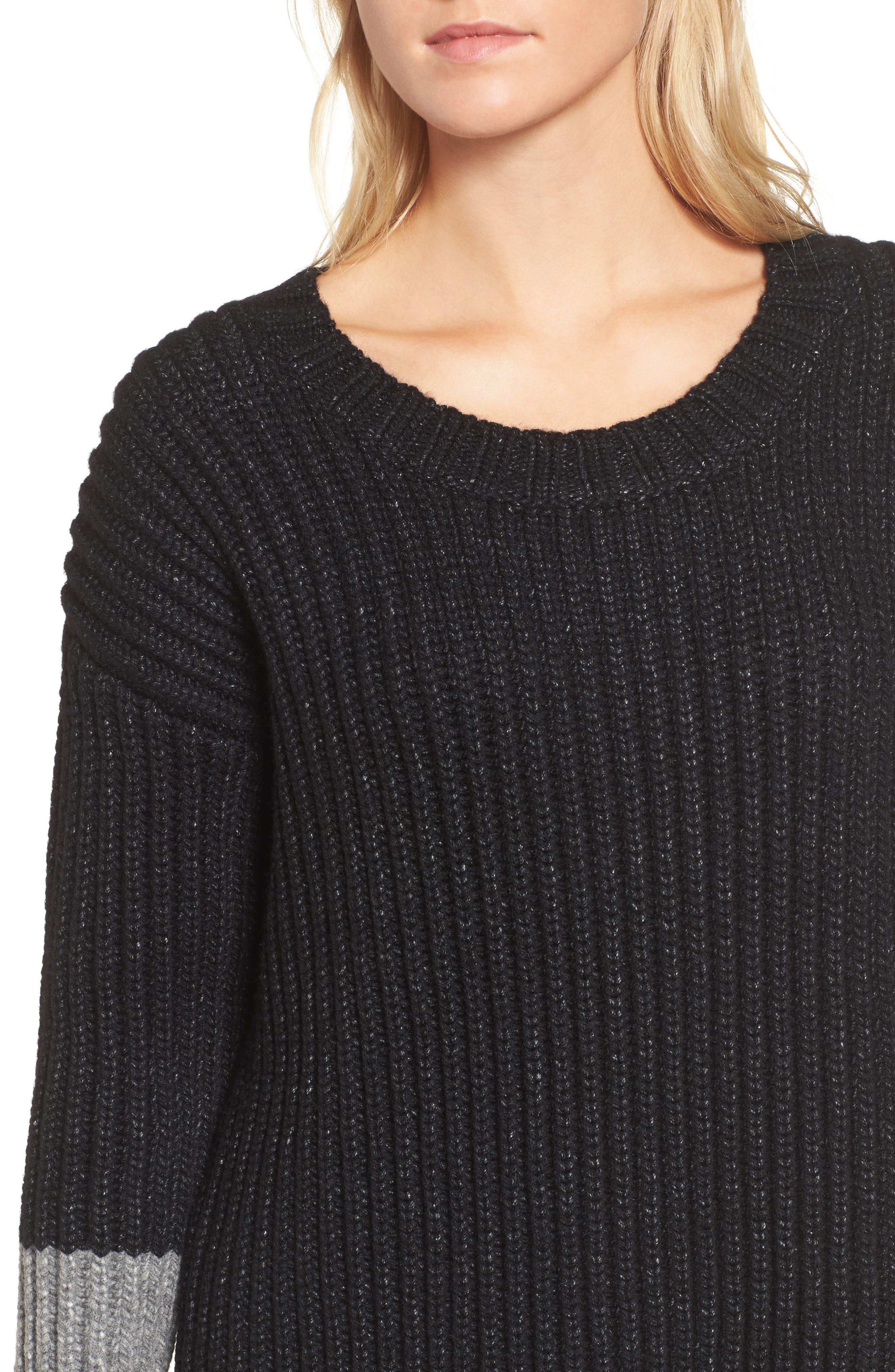 Chunky Armband Sweater,                             Alternate thumbnail 4, color,                             008